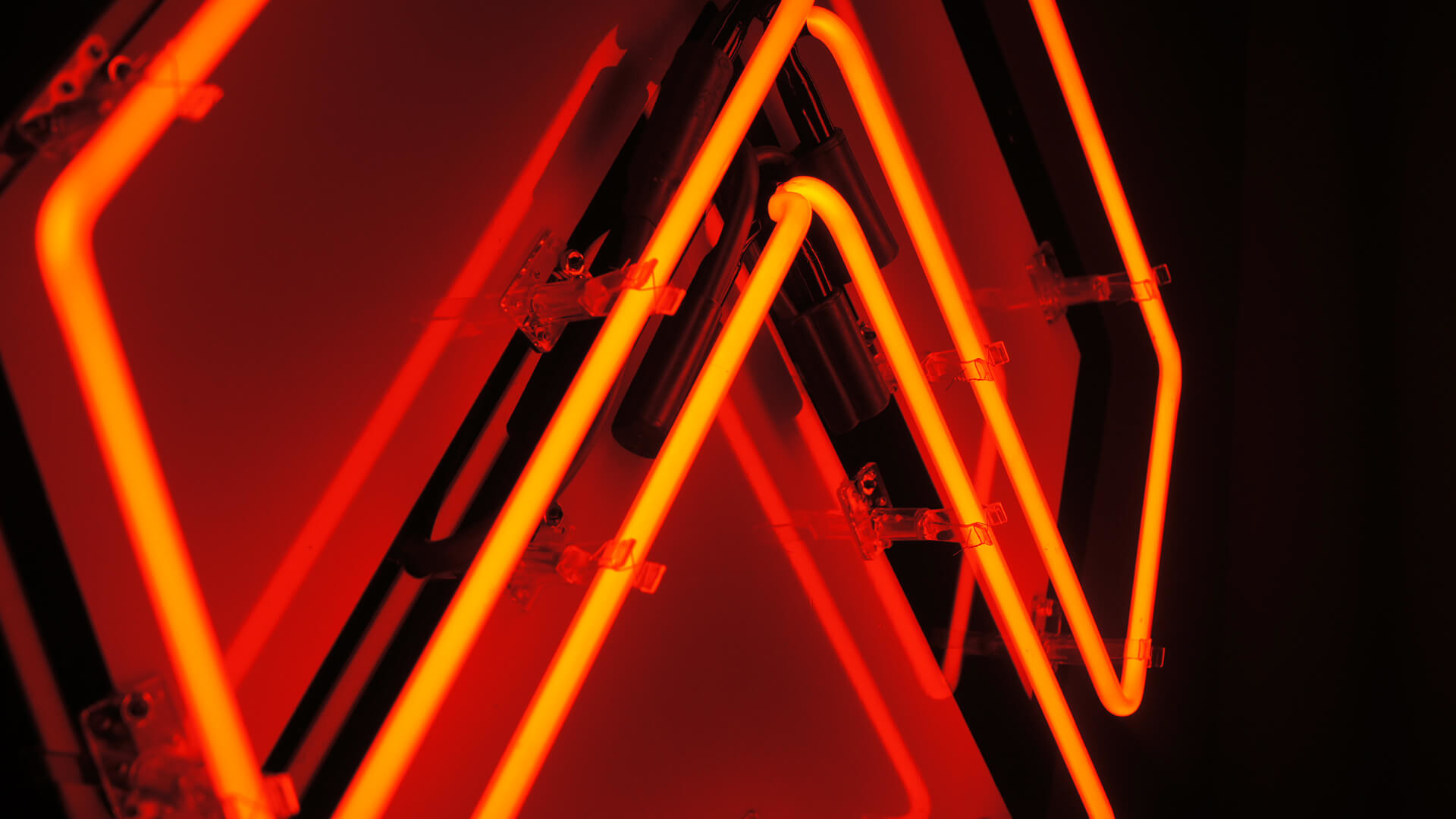 Res: 1920x1080, Awlter Orange Neon Sign Wallpaper 61774