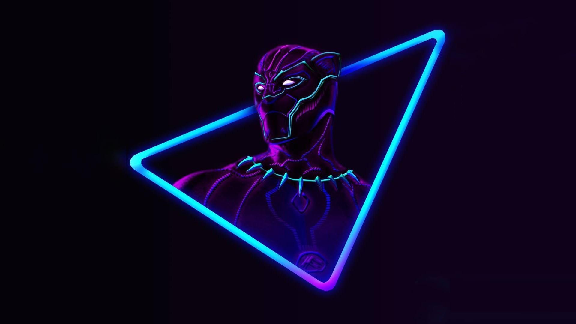 Res: 1920x1080, Neon Avengers  Desktop Wallpapers (based on artwork by  @aniketjatav on Instagram)