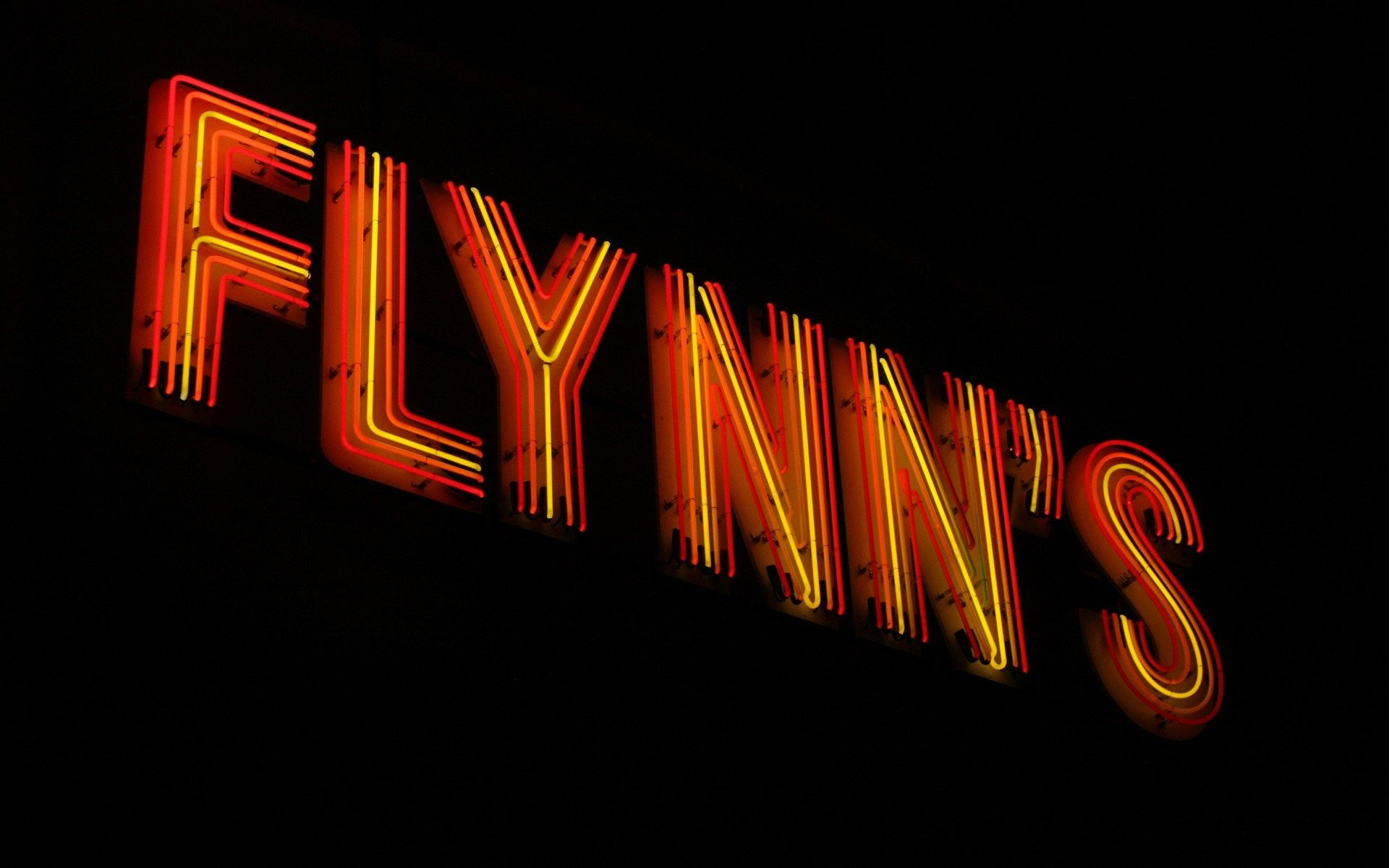 Res: 1920x1200, Tron Flynns Black Neon Sign wallpaper  248074