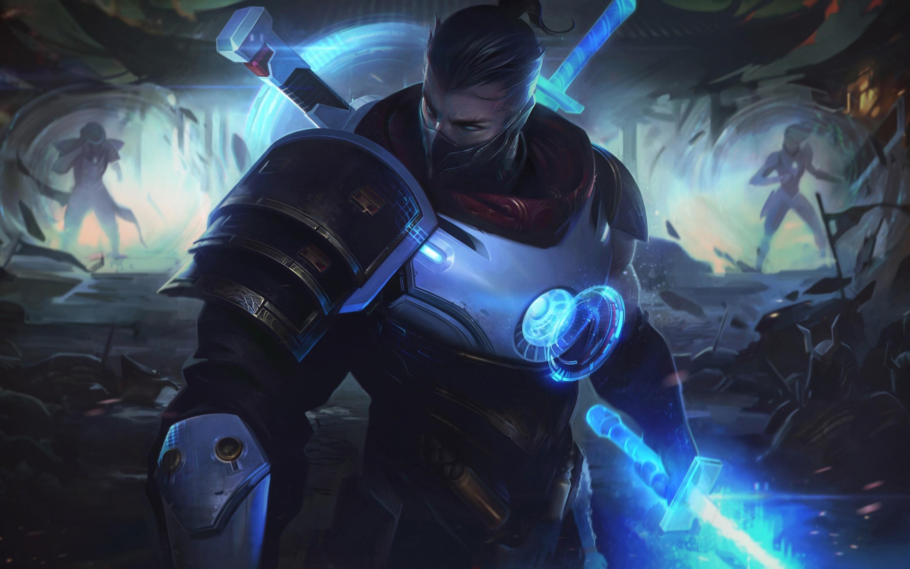 Res: 3123x1952, League Of Legends, Shen, Armor, Magic, Sword