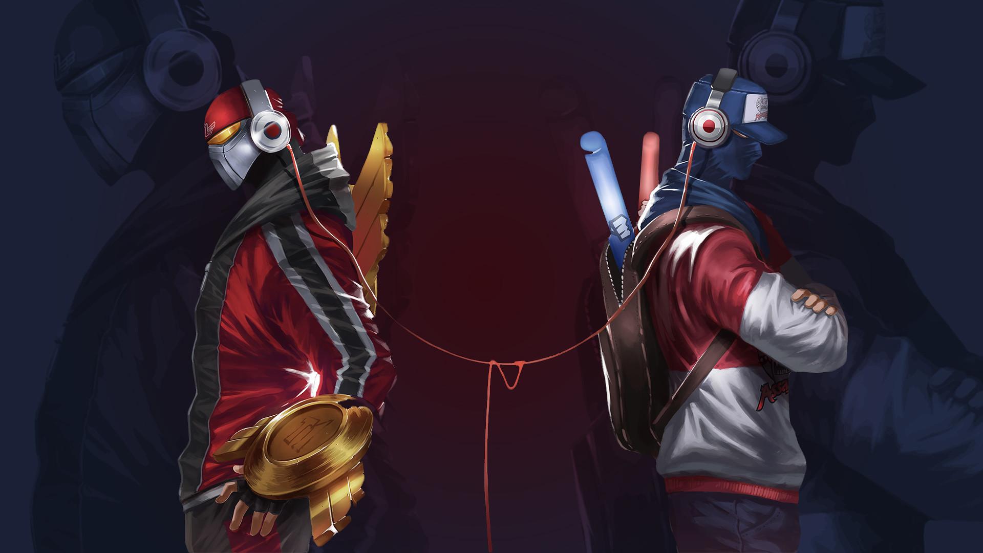 Res: 1920x1080, SKT T1 Zed & Shen by Toemass202 HD Wallpaper Fan Art Artwork League of  Legends lol