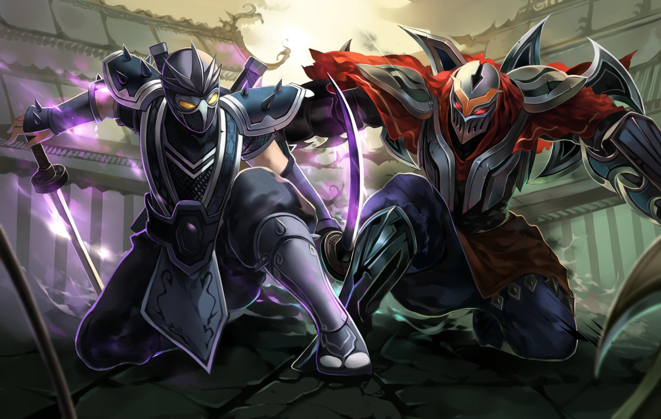 Res: 2266x1438, Zed & Shen by citemer HD Wallpaper Fan Art Artwork League of Legends lol