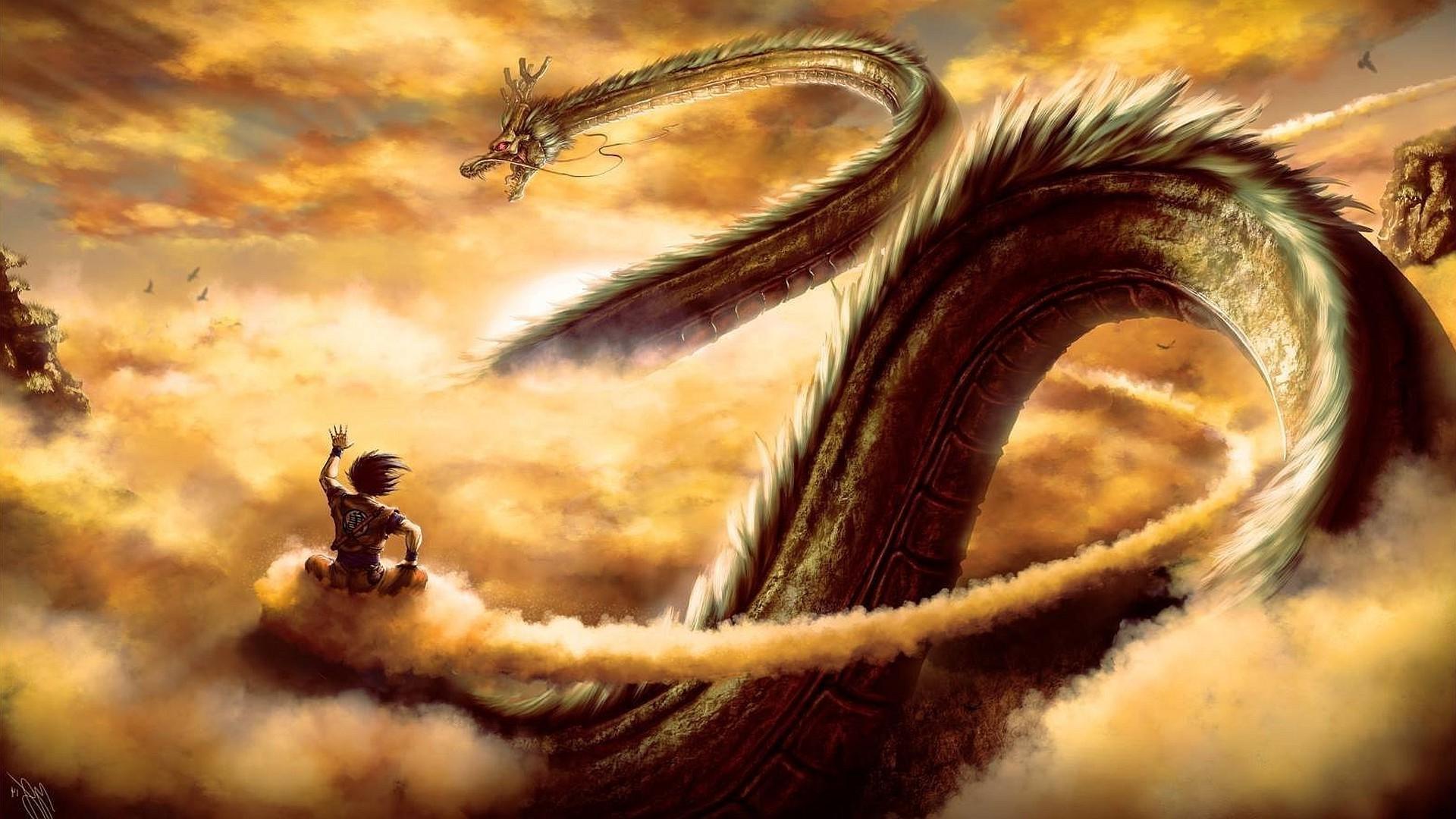 Res: 1920x1080, Dragon Ball Z, Dragon Ball, Artwork, Dragon, Fantasy Art, Son Goku, Dragon  Ball Super, Shen Wallpapers HD / Desktop and Mobile Backgrounds