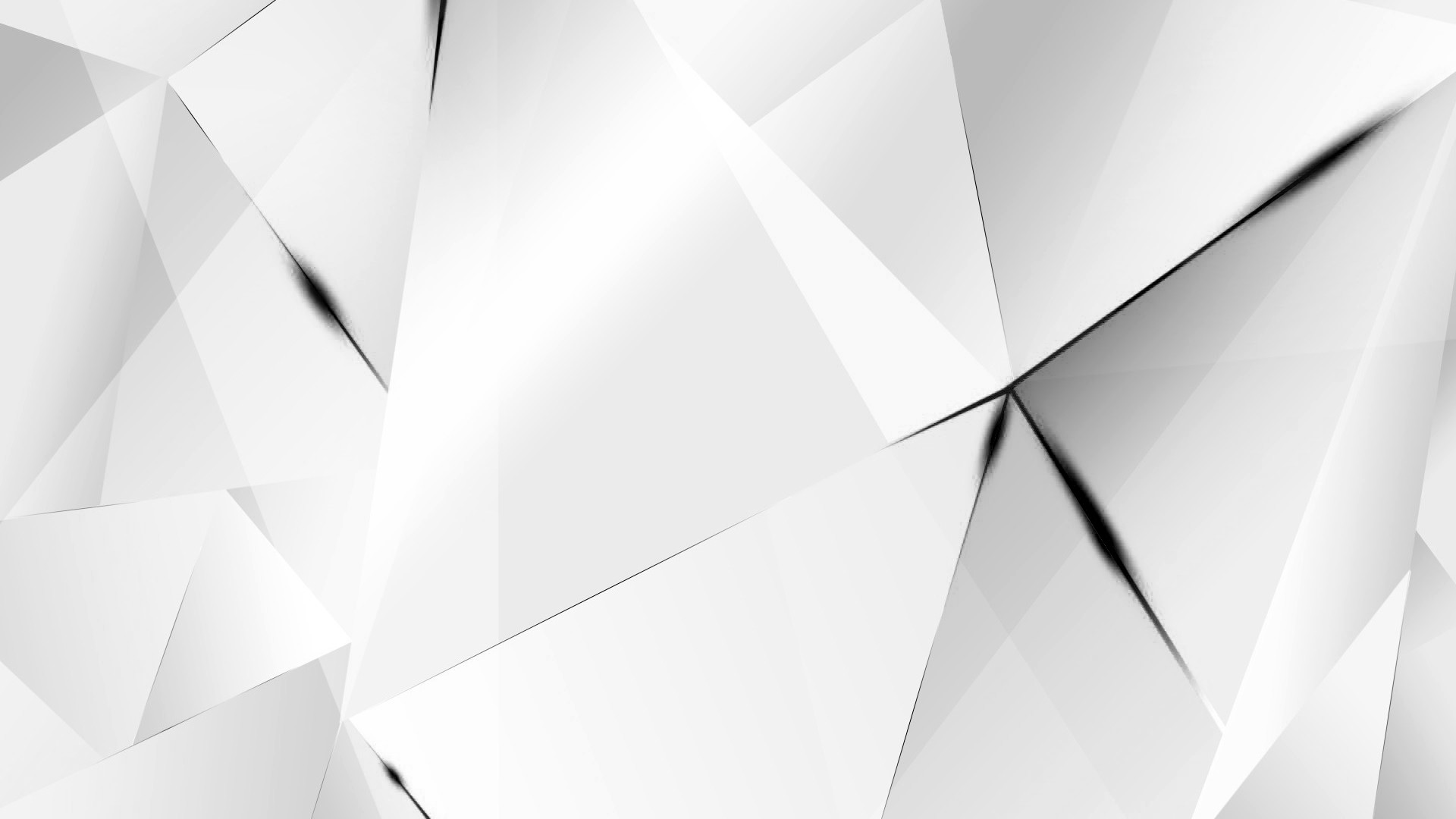 Res: 1920x1080, ... Wallpapers - Black Abstract Polygons (White BG) by kaminohunter