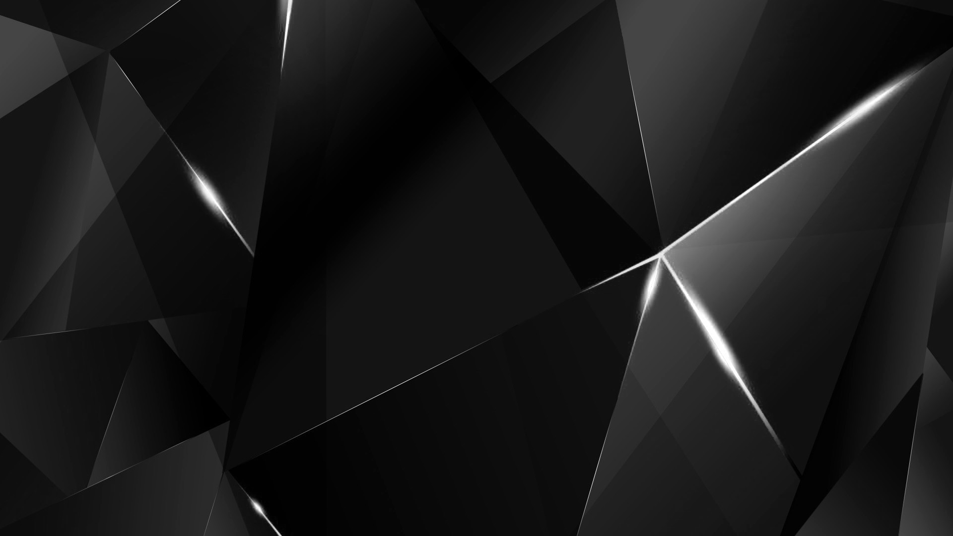 Res: 1920x1080, ... Wallpapers - White Abstract Polygons (Black BG) by kaminohunter