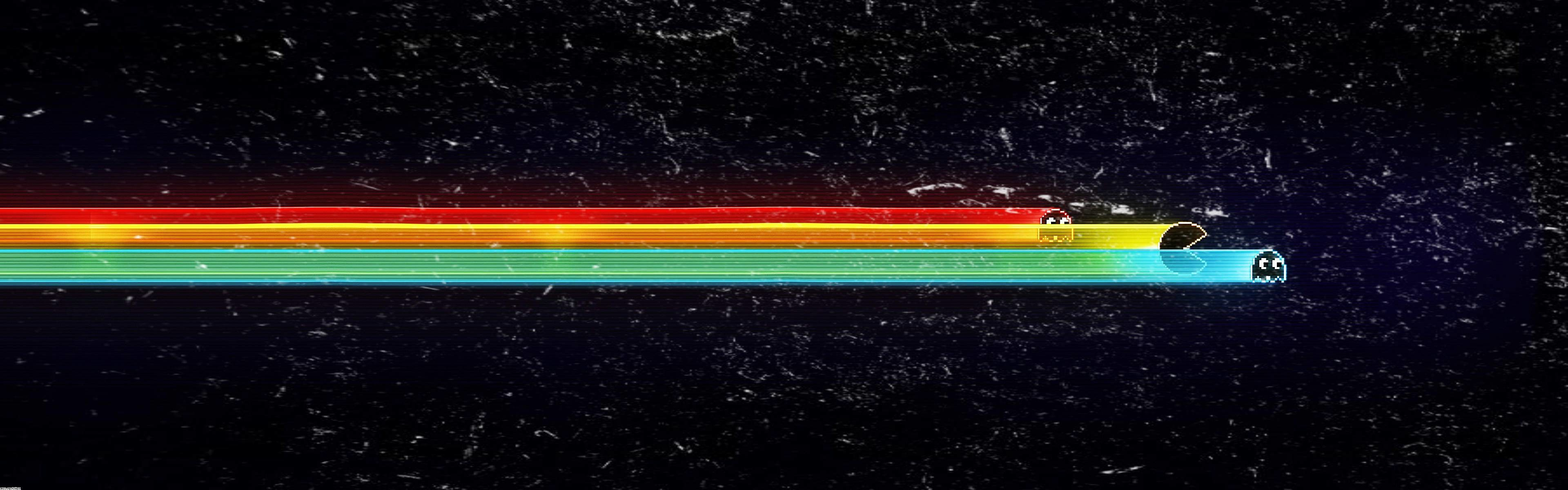 Res: 3840x1200, Pacman Wallpaper Dual Screen [3840 x 1200]