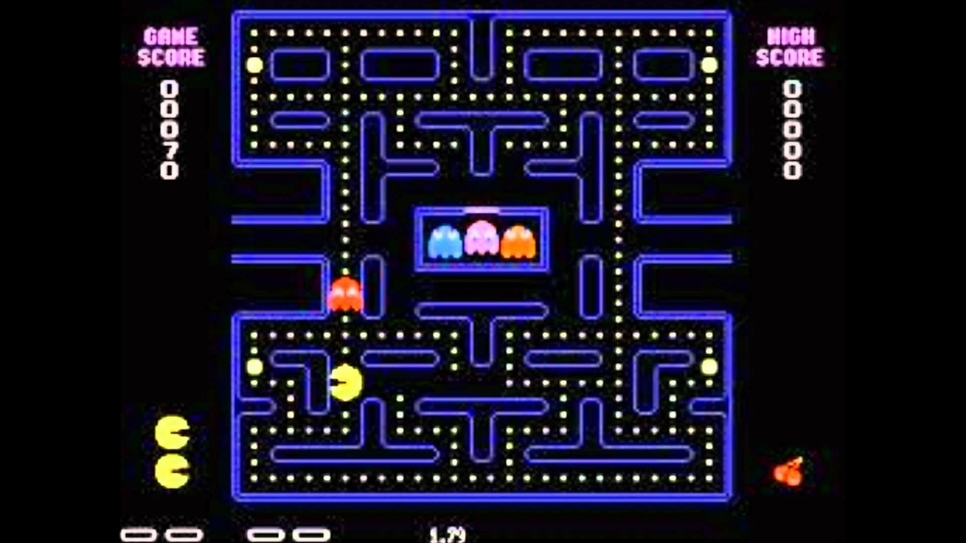 Res: 1920x1080, Original Pacman Wallpaper