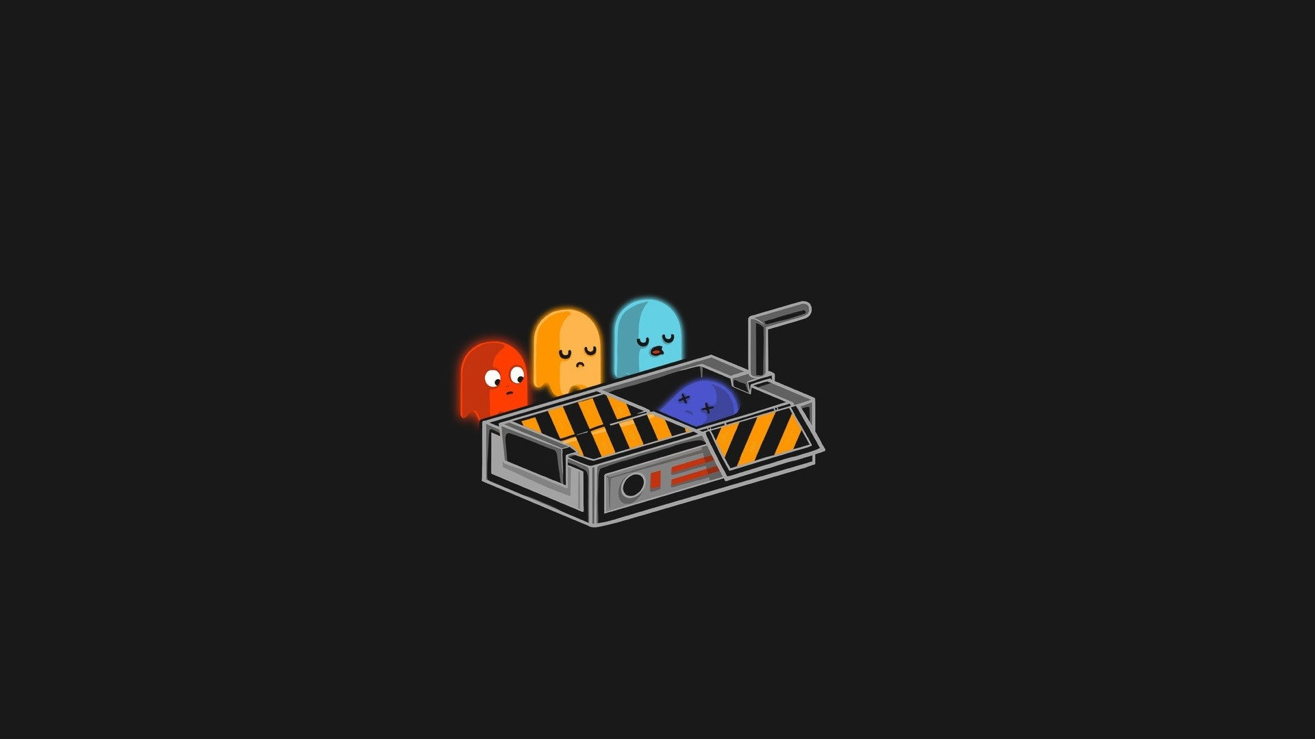 Res: 1920x1080, minimalism, Humor, Ghost, Pac Man, Video games Wallpapers HD / Desktop and  Mobile Backgrounds