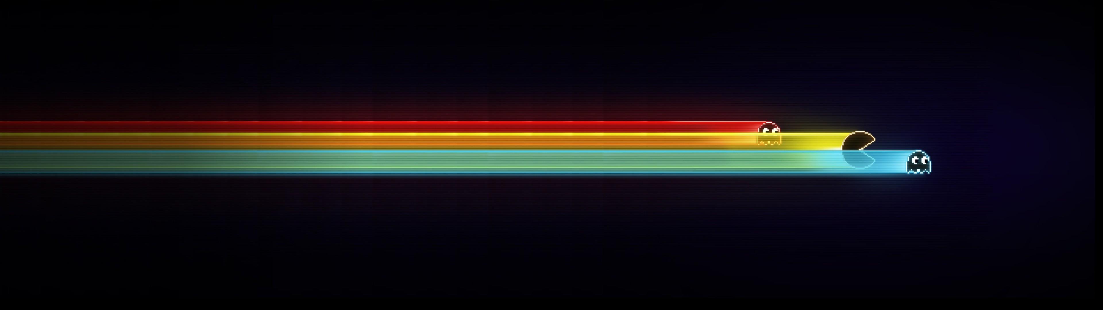 Res: 3840x1080, #Pacman wallpaper