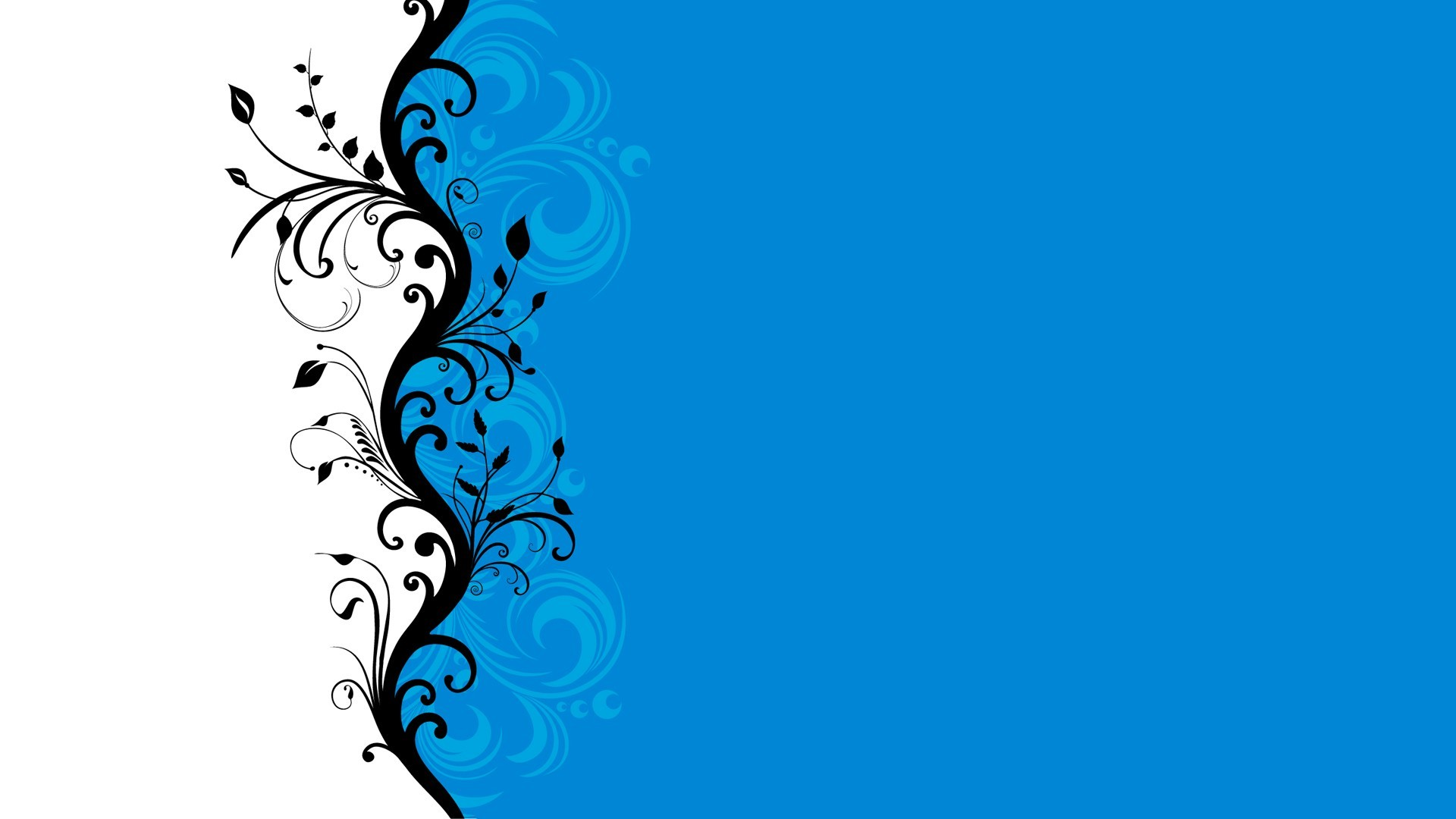 Res: 1920x1080,  Blue White Abstract Vine HD wallpaper | art and paintings ...  Download · blue white abstract wallpaper ...