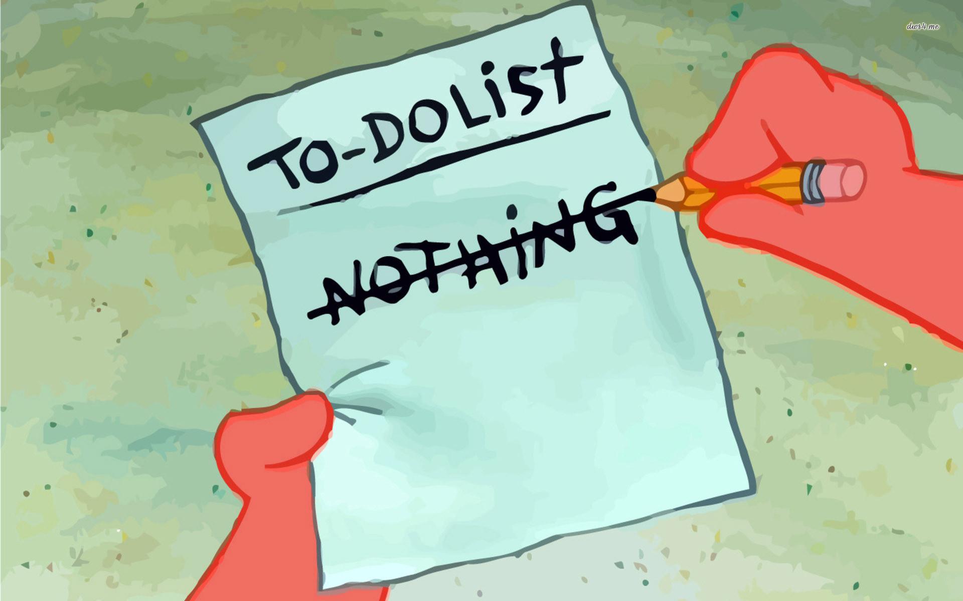 Res: 1920x1200, ... SpongeBob to do list wallpaper  ...