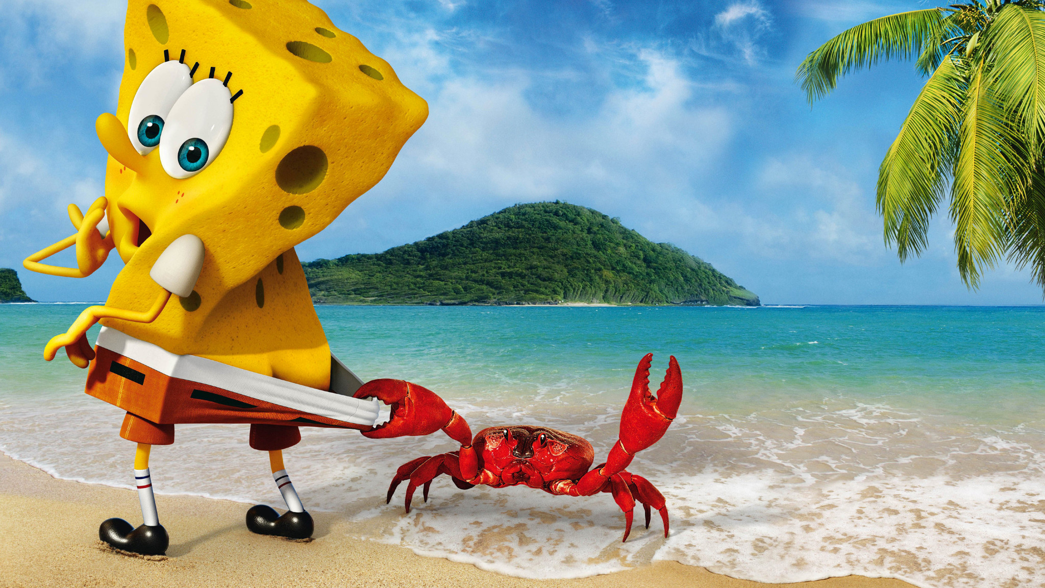 Res: 2048x1152, HD Wallpaper | Background Image SpongeBob Crab Funny