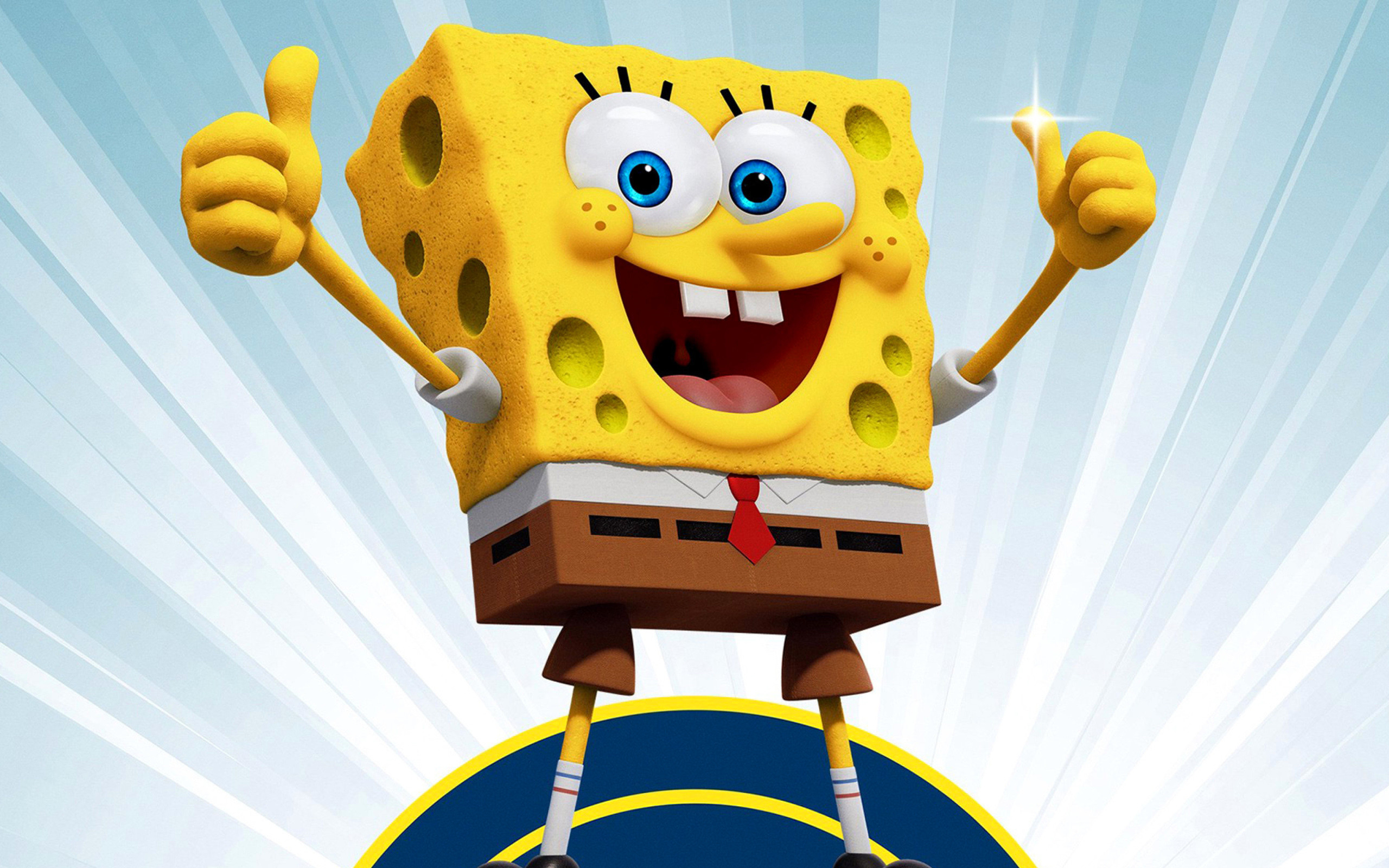 Res: 2560x1600, SpongeBob, thumb up, funny characters, SpongeBob SquarePants