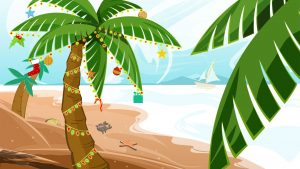 Tropical Christmas wallpapers