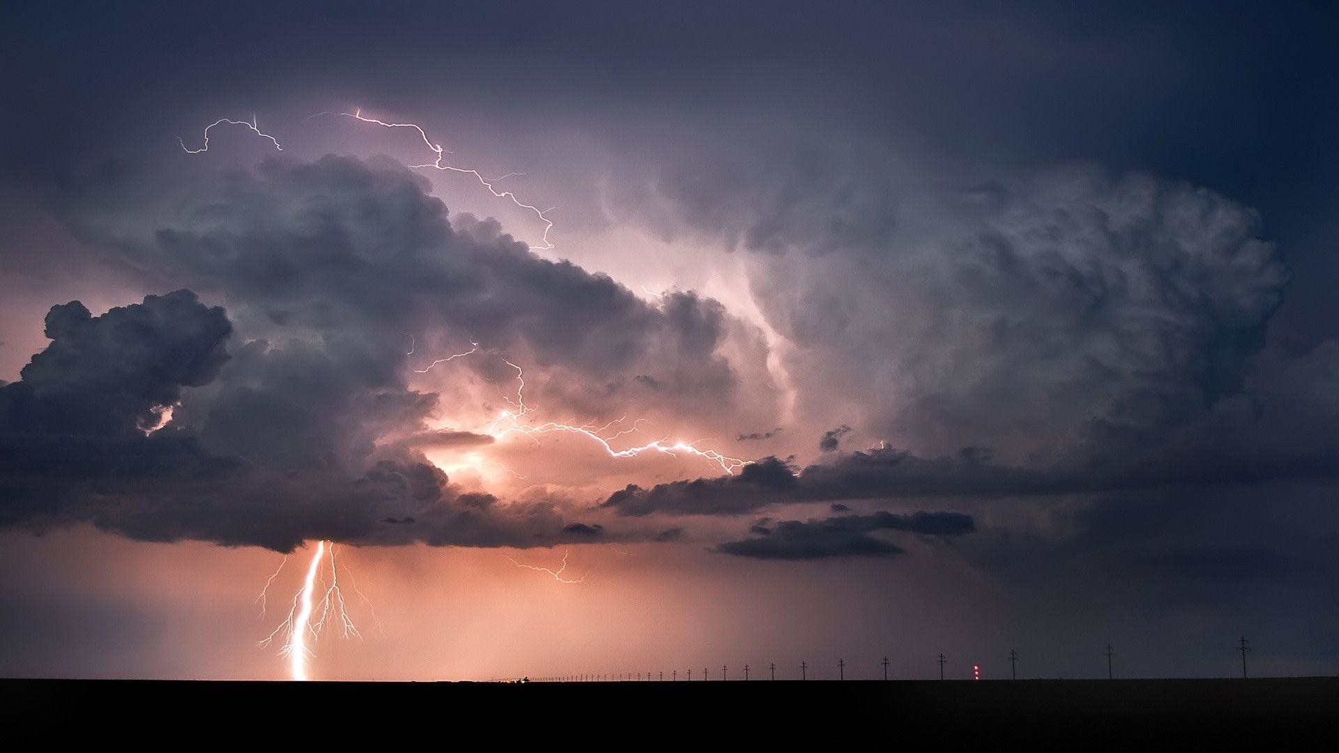 Res: 1920x1080, Lightning Strikes. Wallpaper