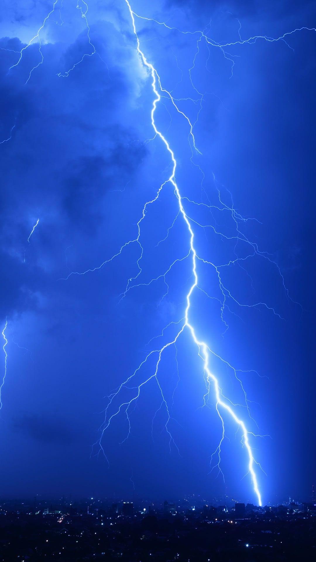 Res: 1080x1920, Cool Lightning Strikes #iPhone #6 #plus #wallpaper