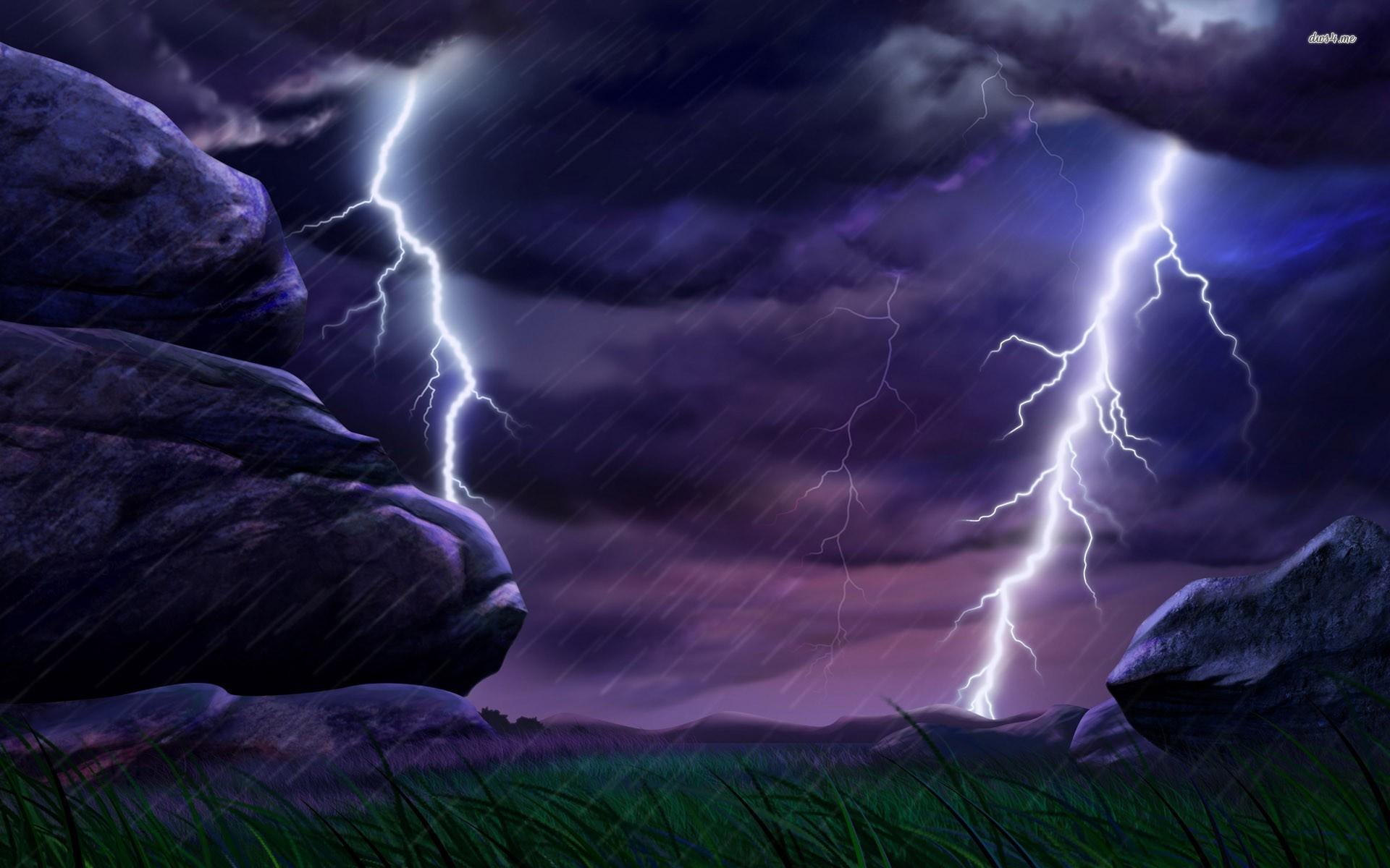 Res: 1920x1200, ... Lightning strikes wallpaper  ...