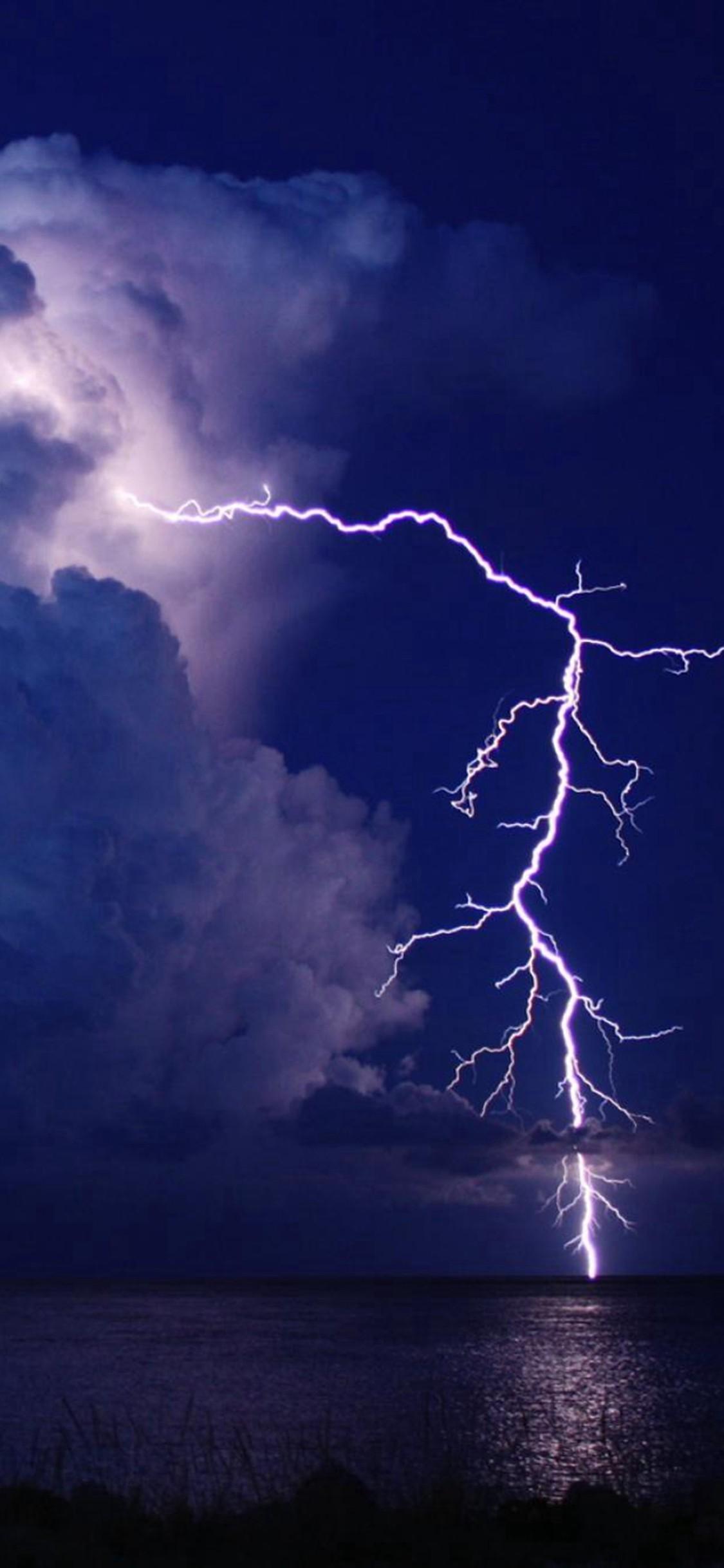 Res: 1125x2436, Hd Lightning Wallpaper