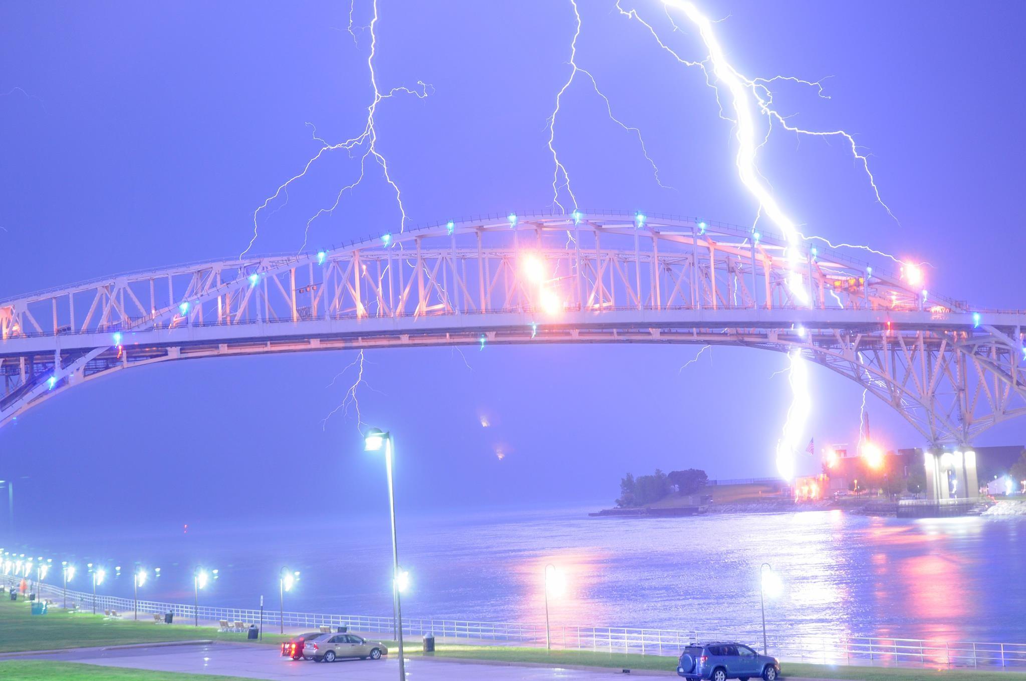 Res: 2048x1360, Great shot of lightning striking the Bluewater bridge in Port Huron/Sarnia  ...