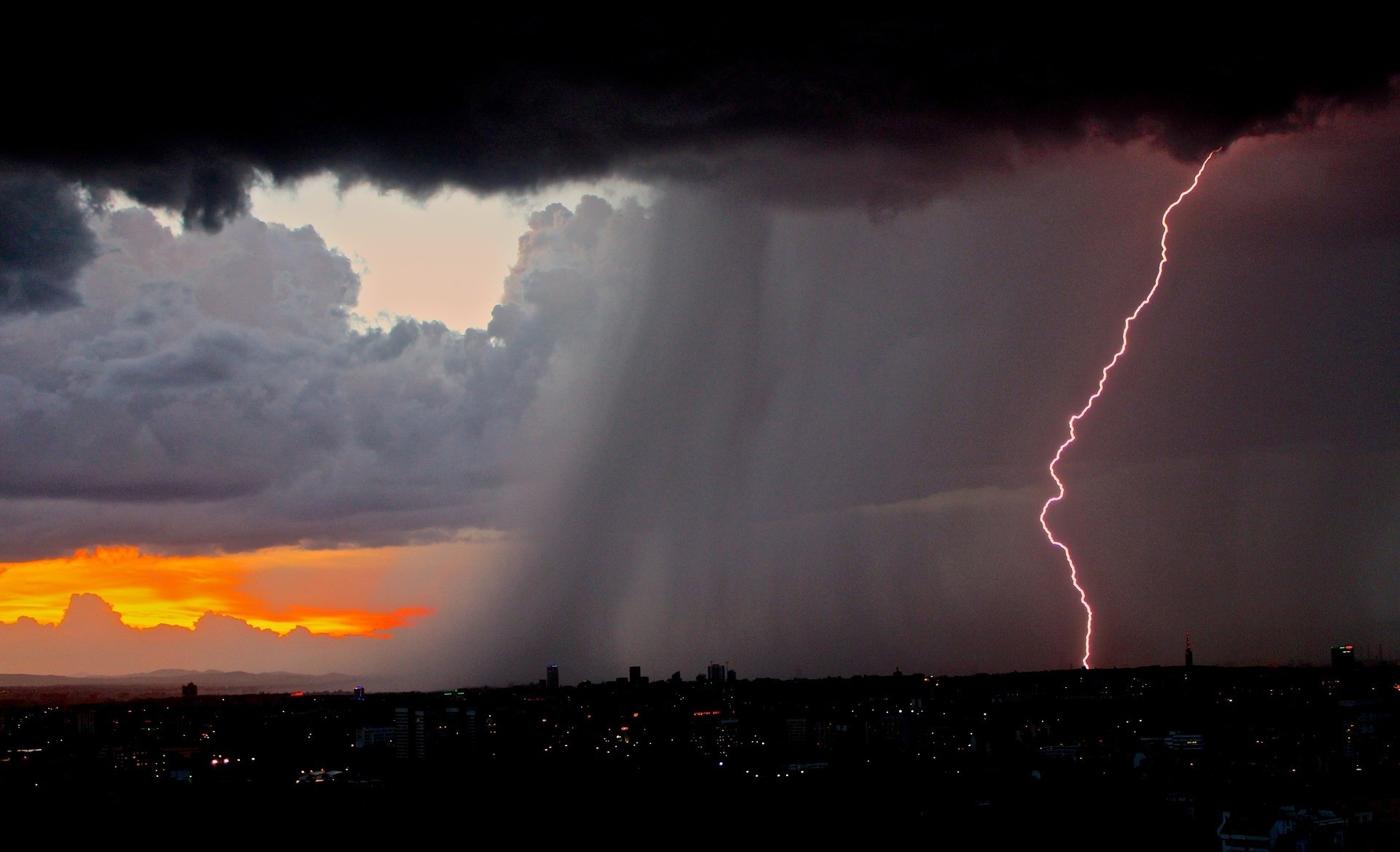 Res: 1920x1168,  Nature: Lightning Bolt Strike Sky Flash Thunderstorm Nature  Wallpapers HD, #17 of