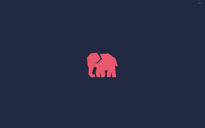 Res: 2880x1800, Elephant silhouette wallpaper