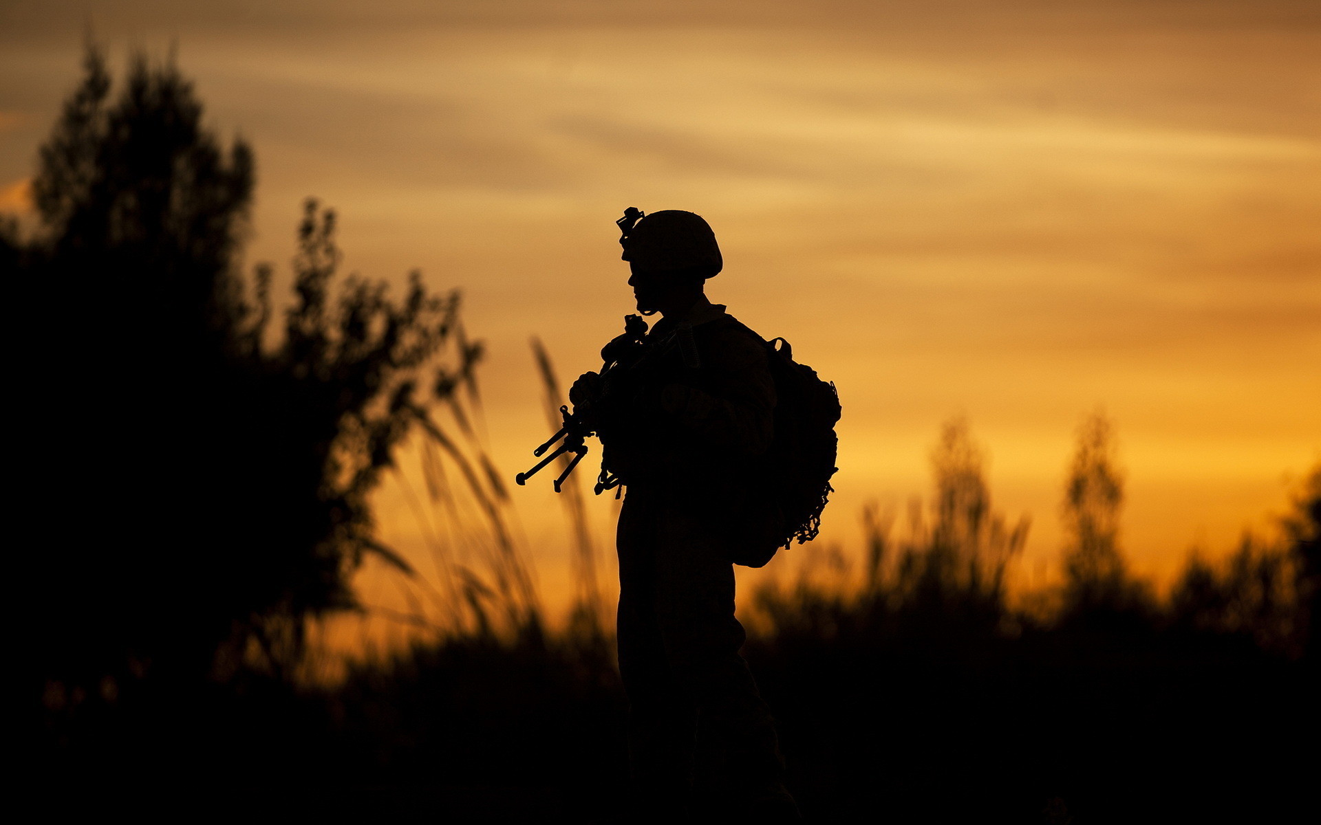 Res: 1920x1200, Soldier Silhouette Wallpaper 43497