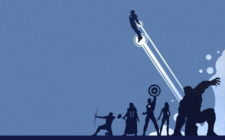 Res: 2880x1800, Avengers Silhouette Wallpaper