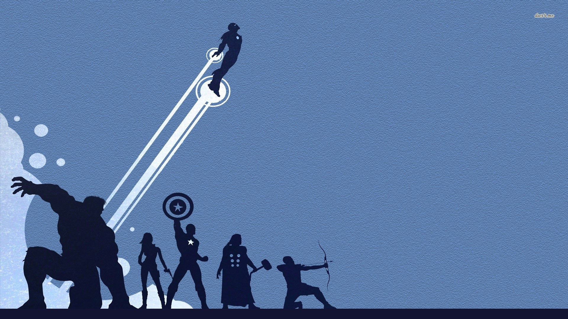 Res: 1920x1080, ... The Avengers silhouette wallpaper  ...
