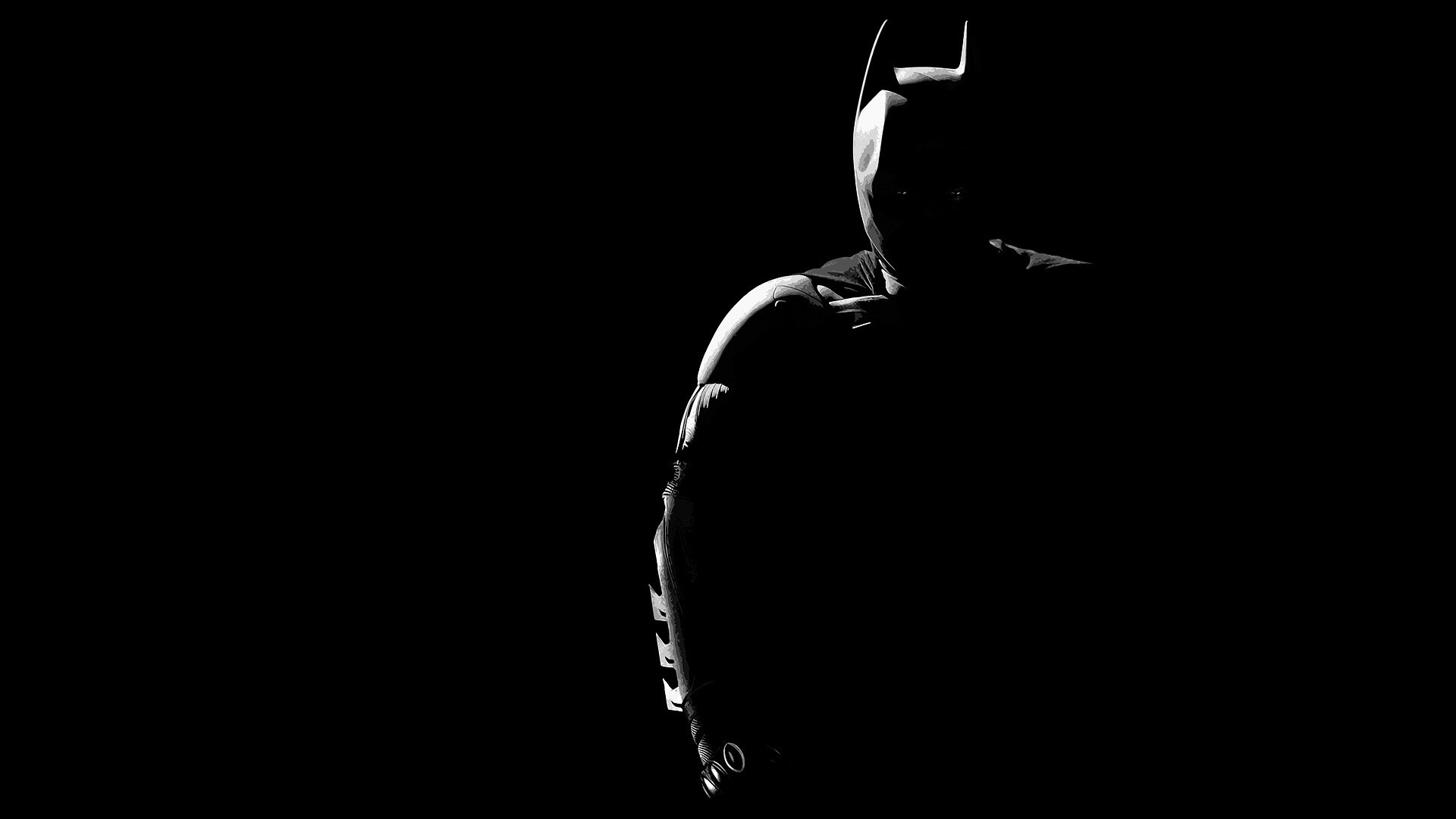 Res: 1920x1080, Batman Dark Silhouette Desktop Wallpaper Uploaded by egoman