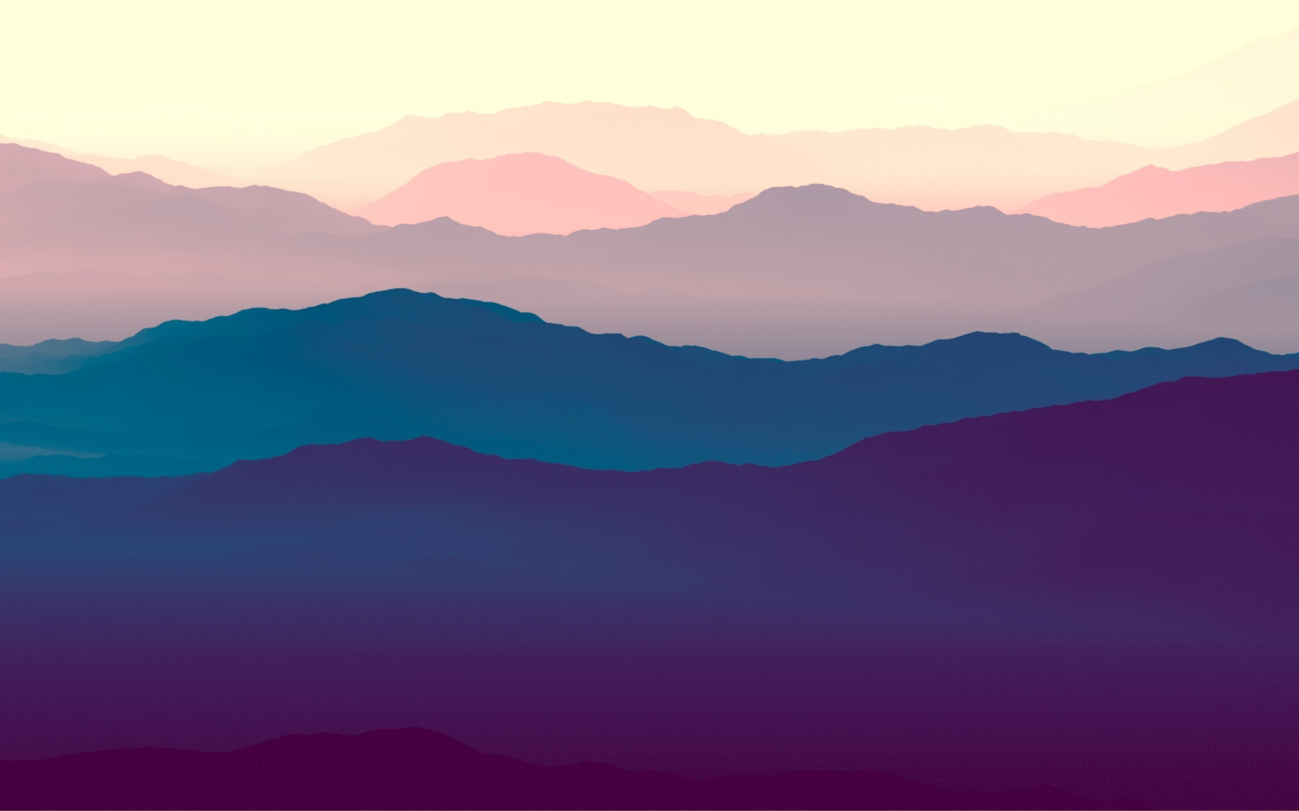 Res: 2560x1600, Mountains, Hills, Silhouette