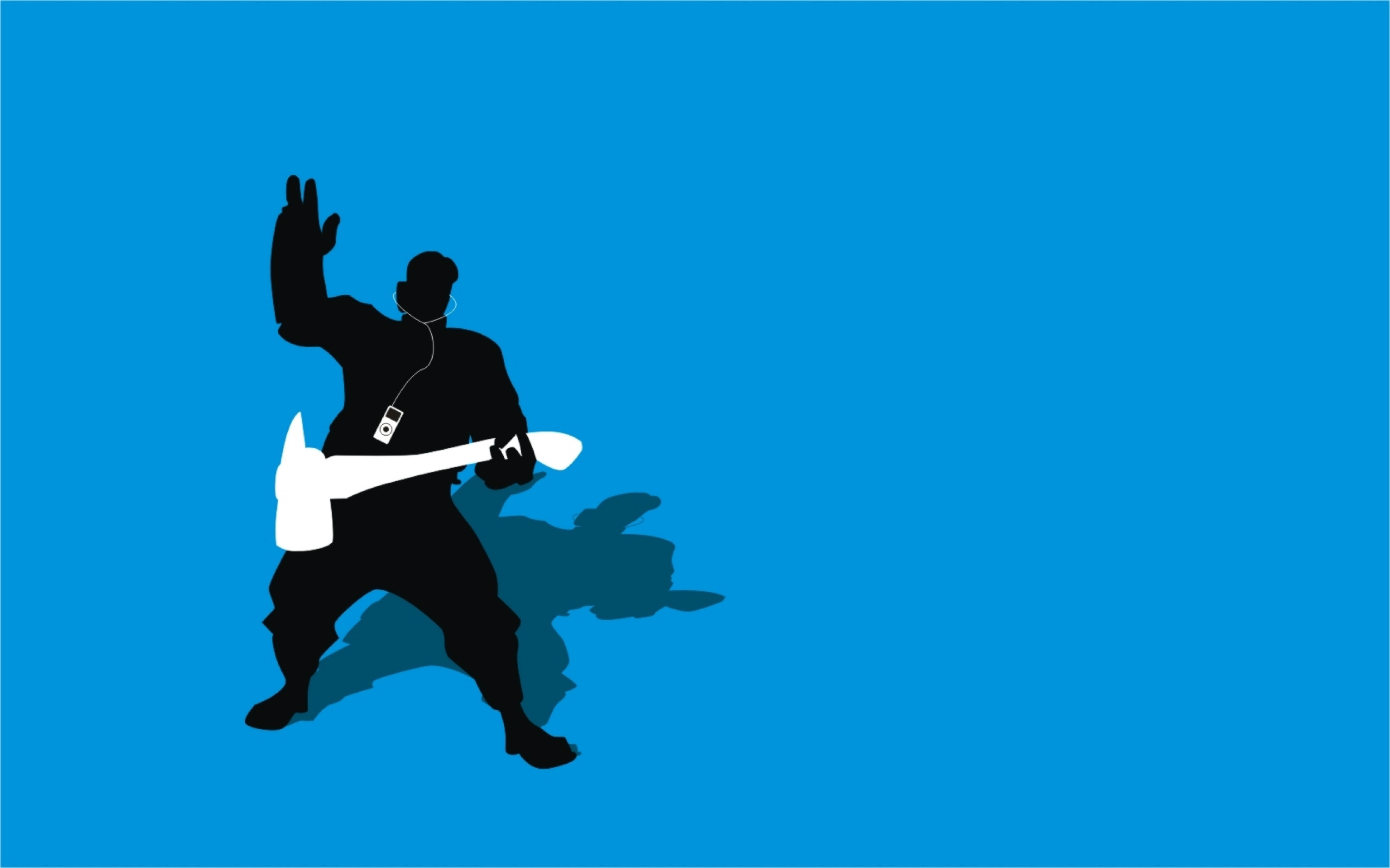 Res: 2560x1600,  Tf2 Blue Pyro Silhouette Ipod Earbuds  By Cwegrecki