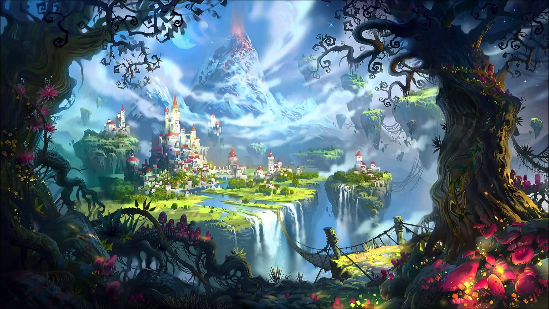 Res: 1920x1080, Fantasy World [] ...
