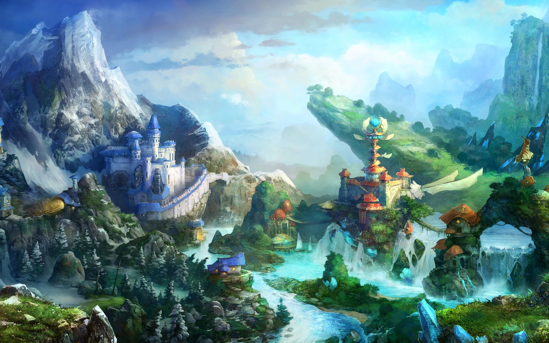 Res: 2880x1800, fantasy world wallpaper #919316