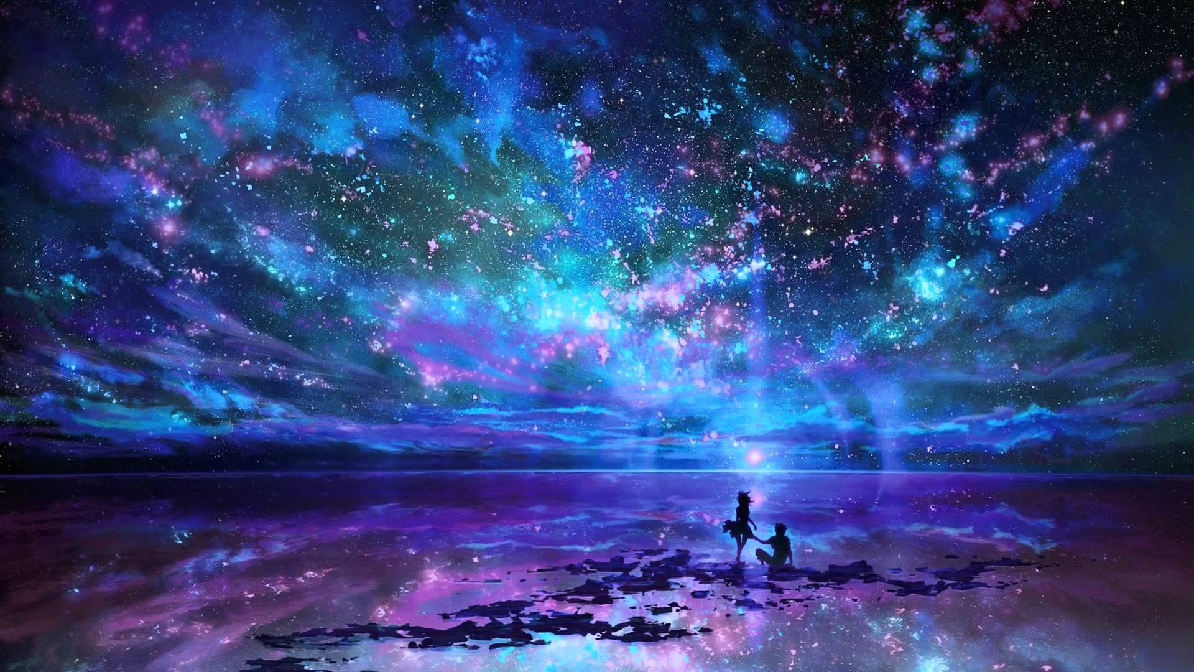 Res: 3840x2160, Free Download HD Lovers in Fantasy World Wallpaper