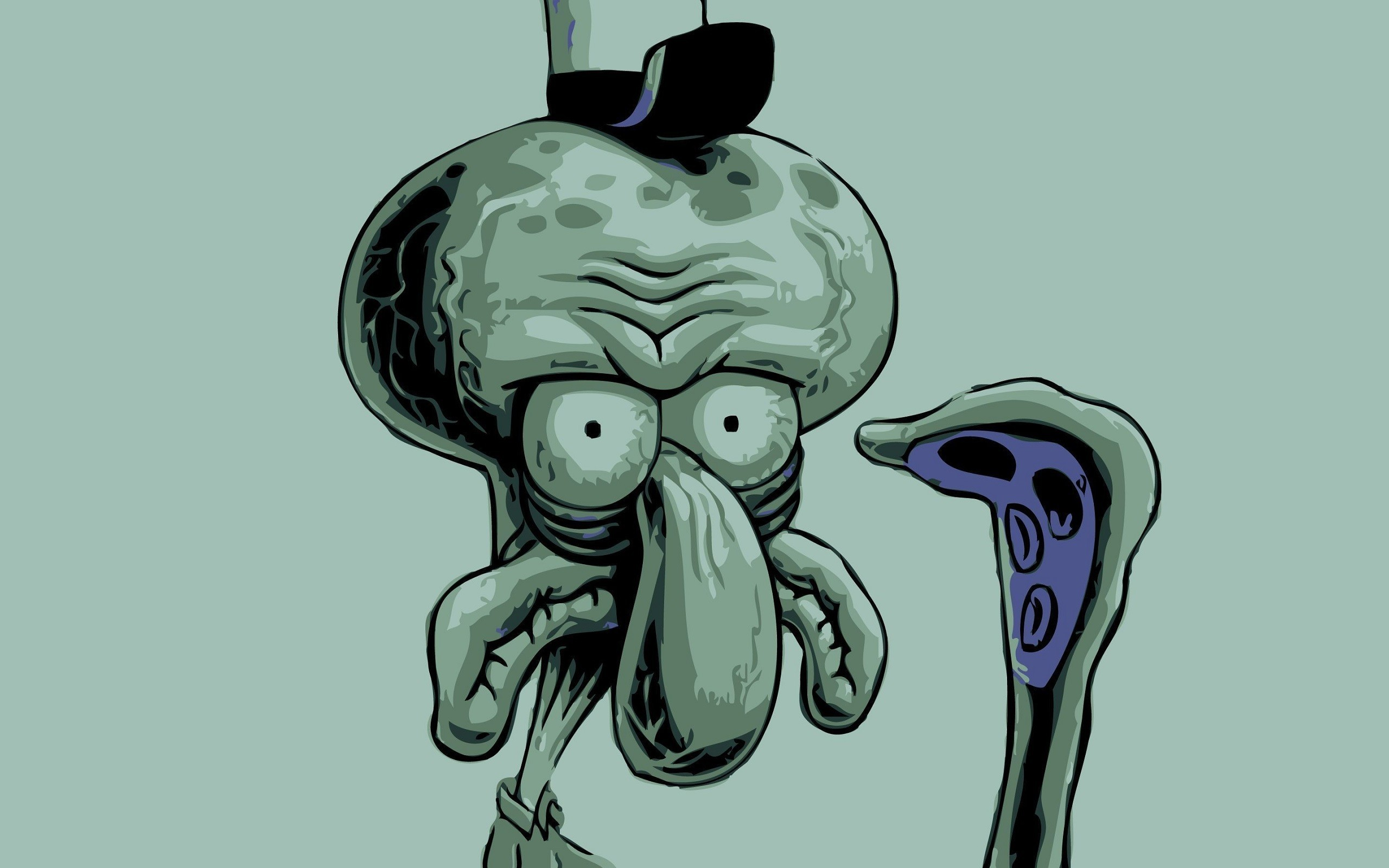Res: 2560x1600, #Squidward Tentacles, #SpongeBob SquarePants wallpaper