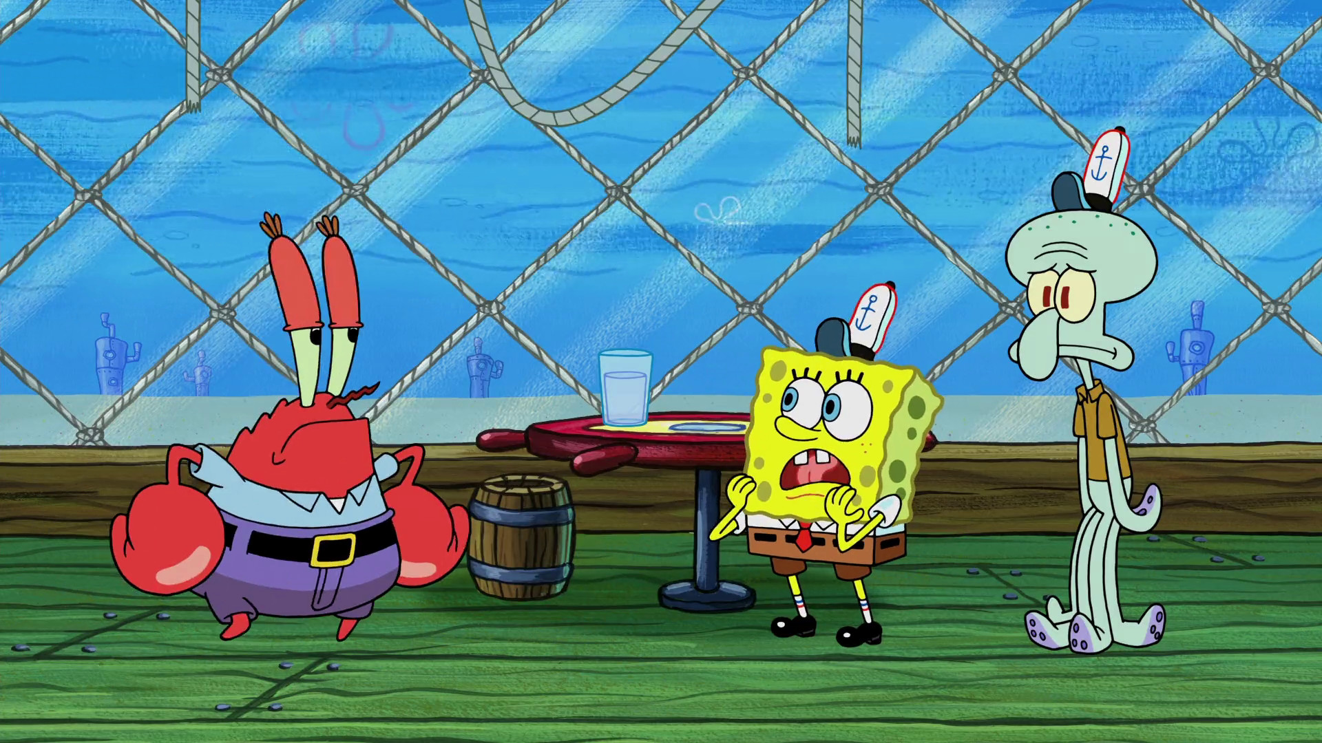 Res: 1920x1080, Mr Krabs, Spongebob and Squidward wallpaper