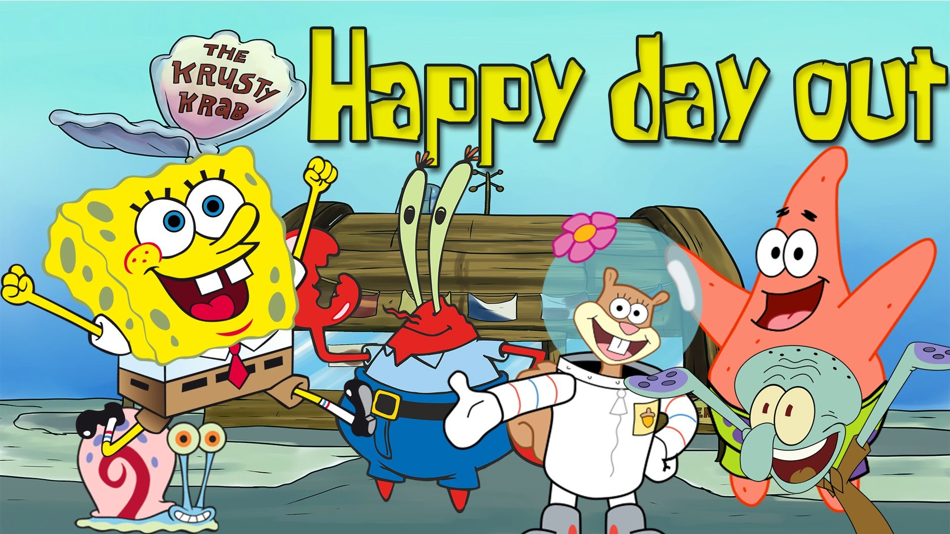 Res: 1920x1080,  Happy Day Out With Spongebob And Friends Desktop Wide Wallpapers,  #39 of 62