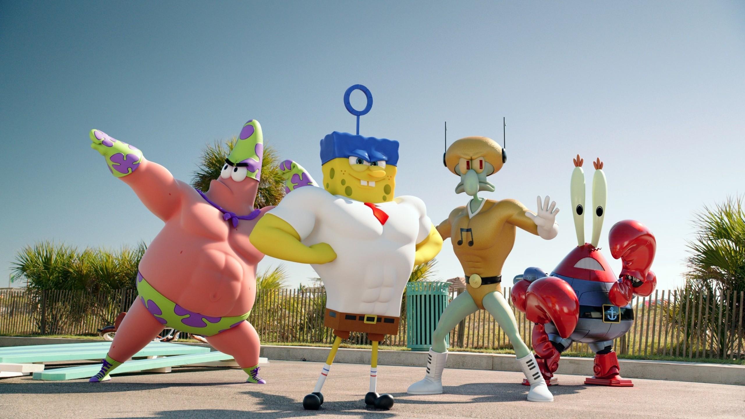 Res: 2560x1440, Patrik, Spongebob, Sponge Bob, Patrick, Squidward, Films, Mr. Krabs