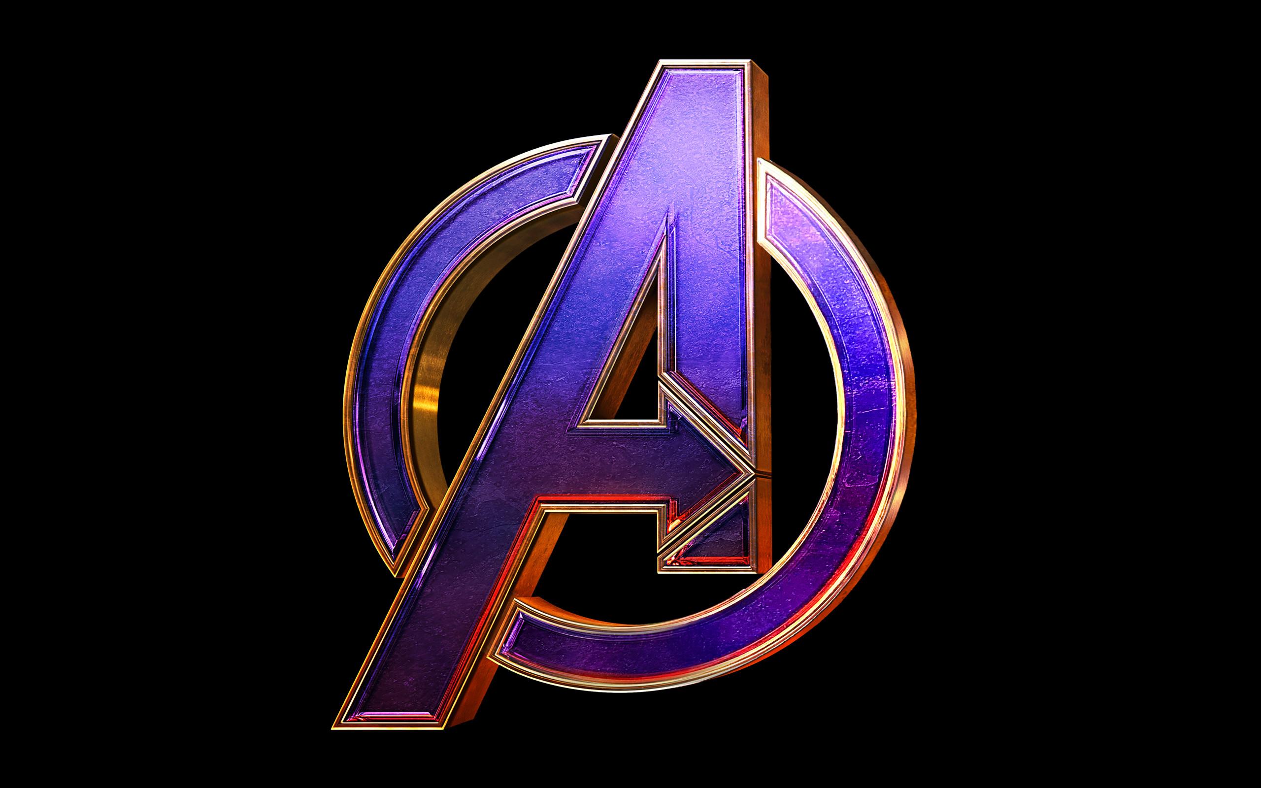 Res: 2560x1600, Wallpaper of Avengers, Avengers EndGame, Logo, Marvel background & HD image