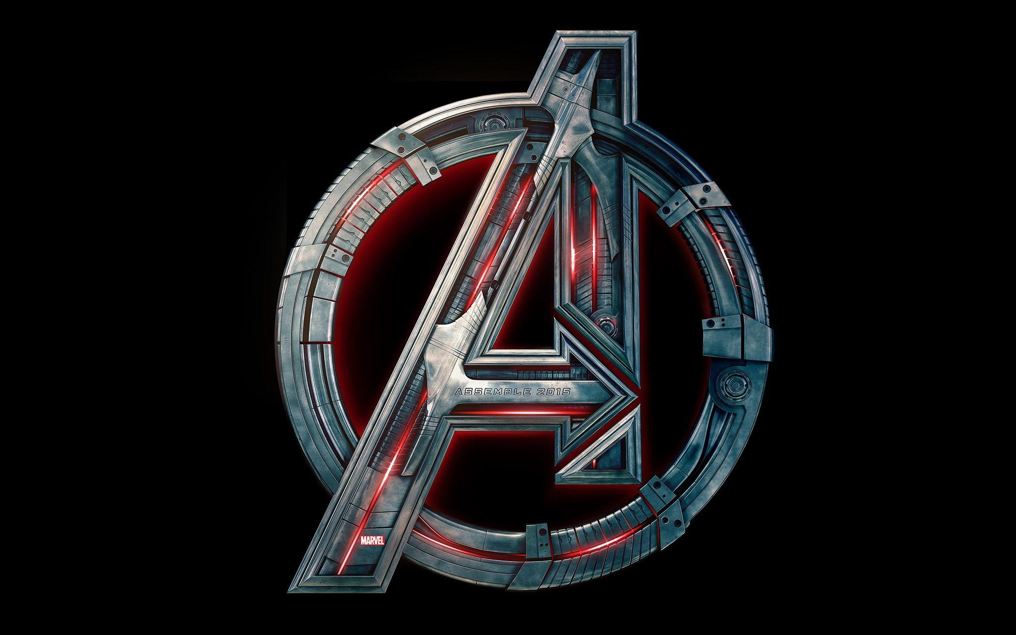 Res: 2048x1280, 1920x1080 Black metallic Avengers logo ...