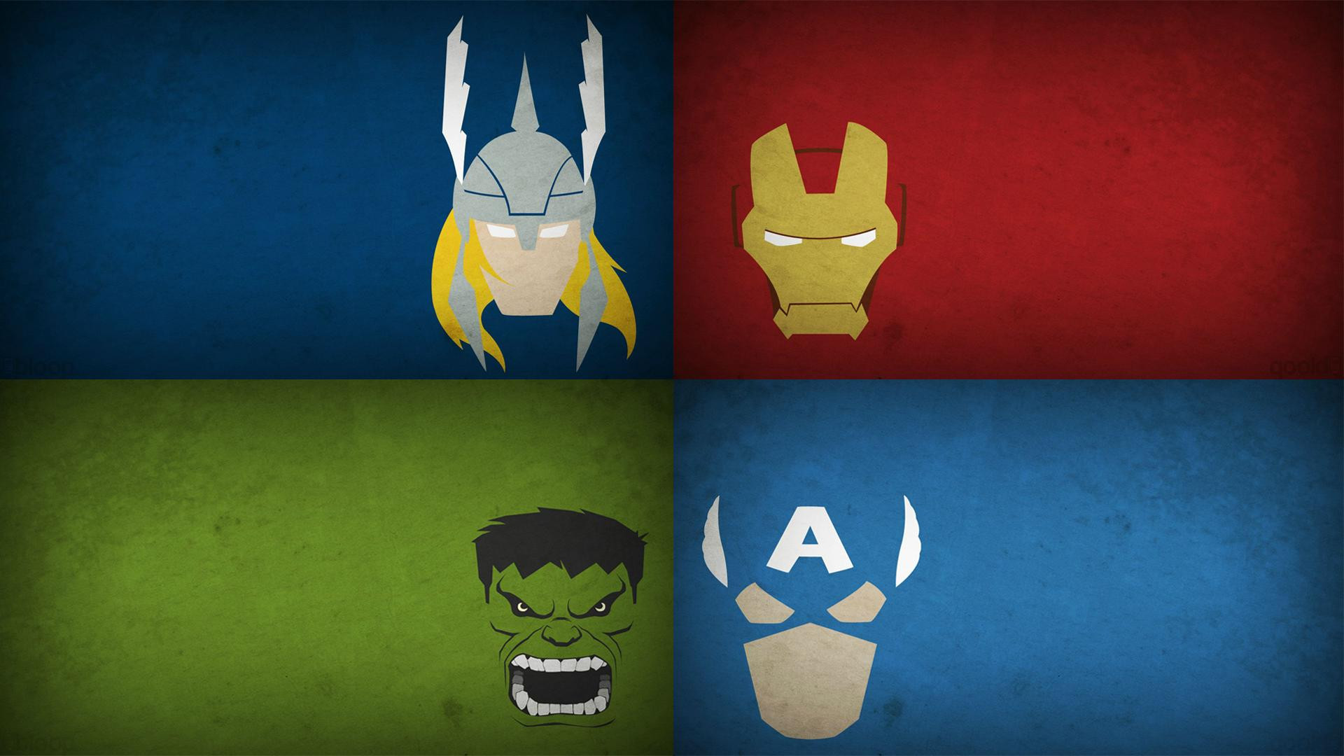 Res: 1920x1080, Minimalist Avengers Logo Image