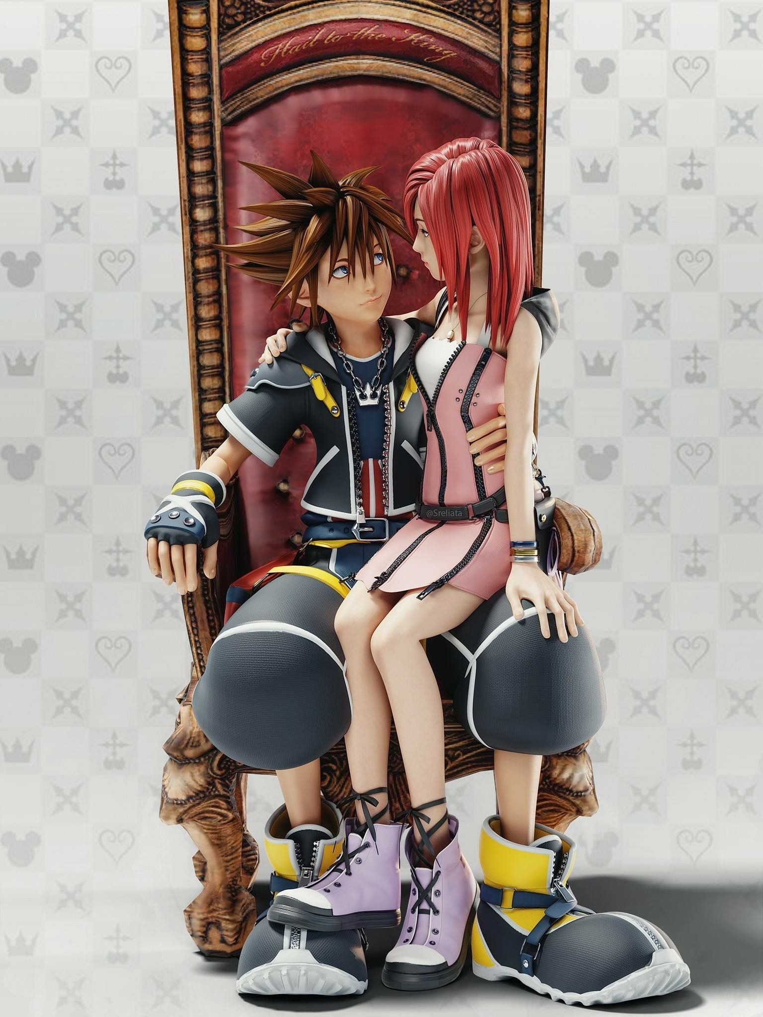 Res: 1536x2048, Sora and Kairi
