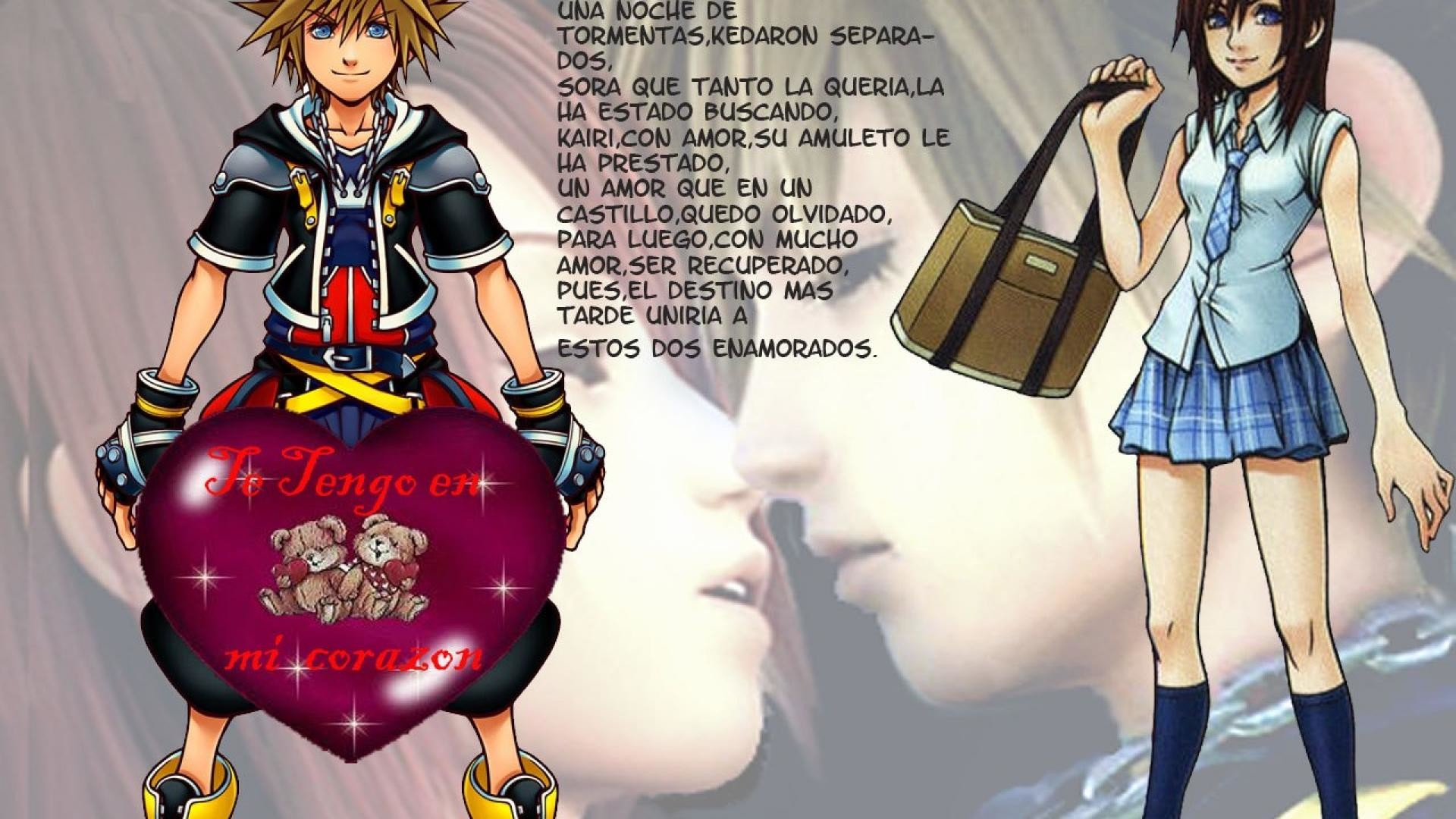Res: 1920x1080, Kingdom Hearts Wallpaper Sora And Kairi wallpaper