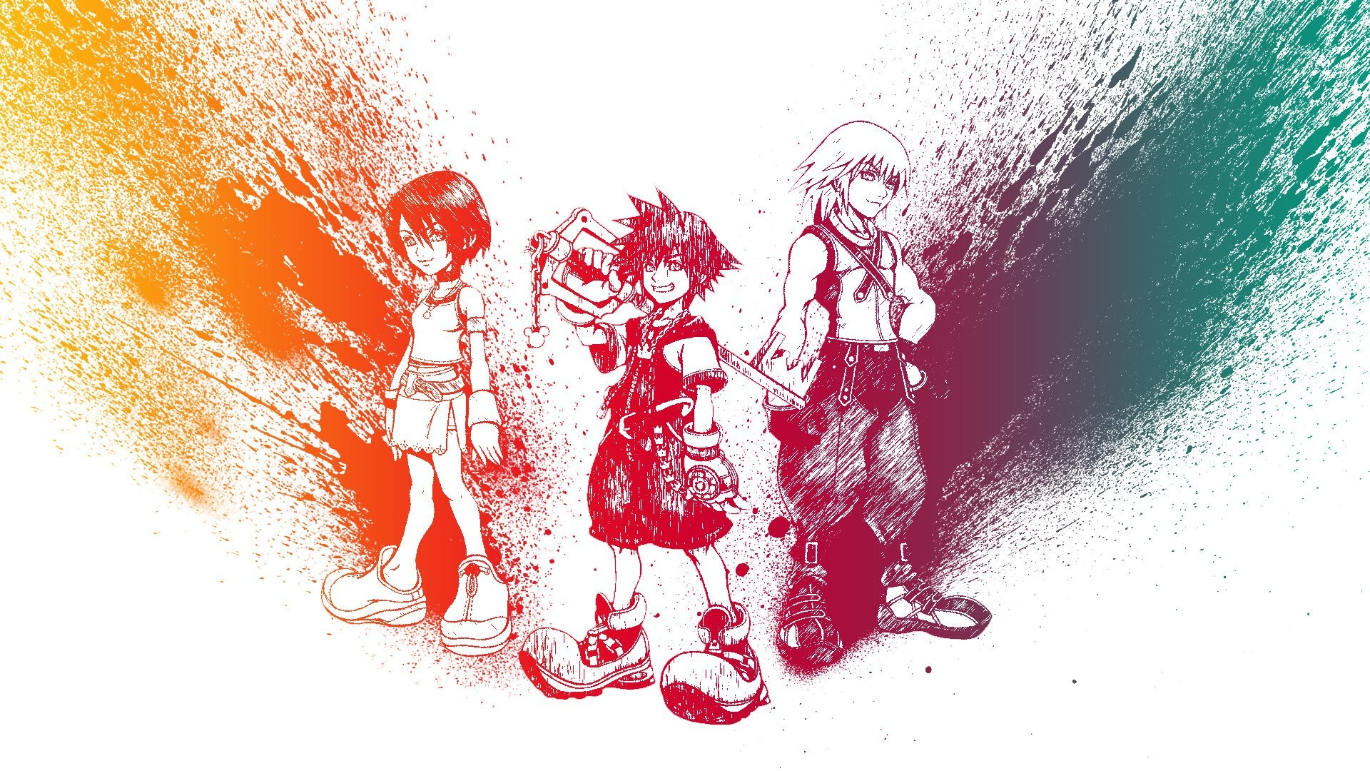 Res: 1920x1080, Kingdom Hearts, Sora (Kingdom Hearts), Riku, Kairi HD Wallpapers / Desktop  and Mobile Images & Photos