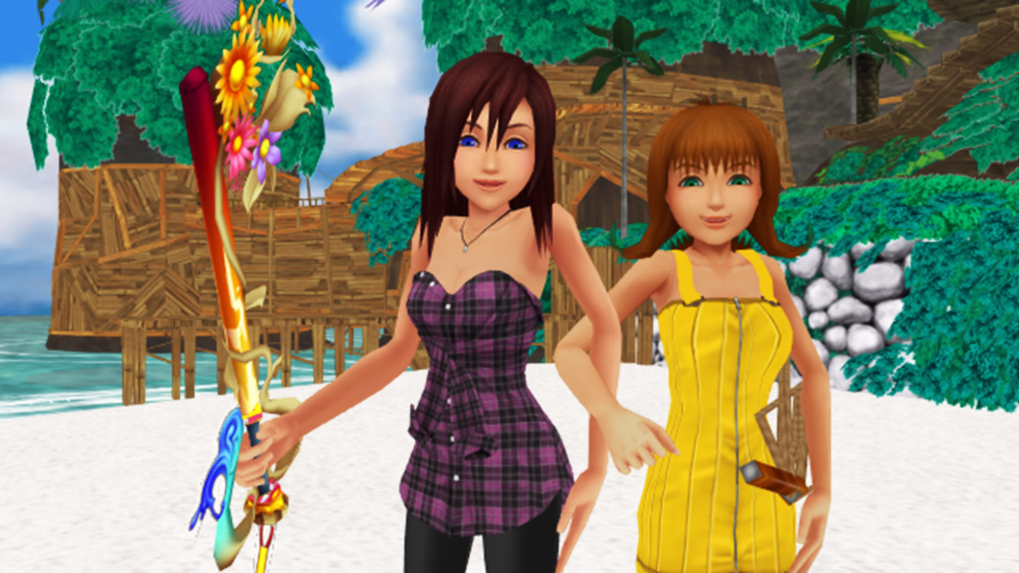 Res: 2000x1125, The Girls of Kingdom Hearts images Kairi and Selphie are Team Friends Girl  Power. HD wallpaper and background photos