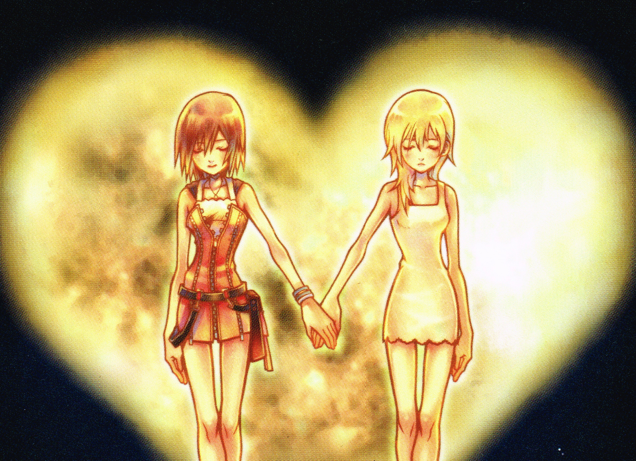 Res: 2062x1495, Kairi and her 'Nobody' Namine.