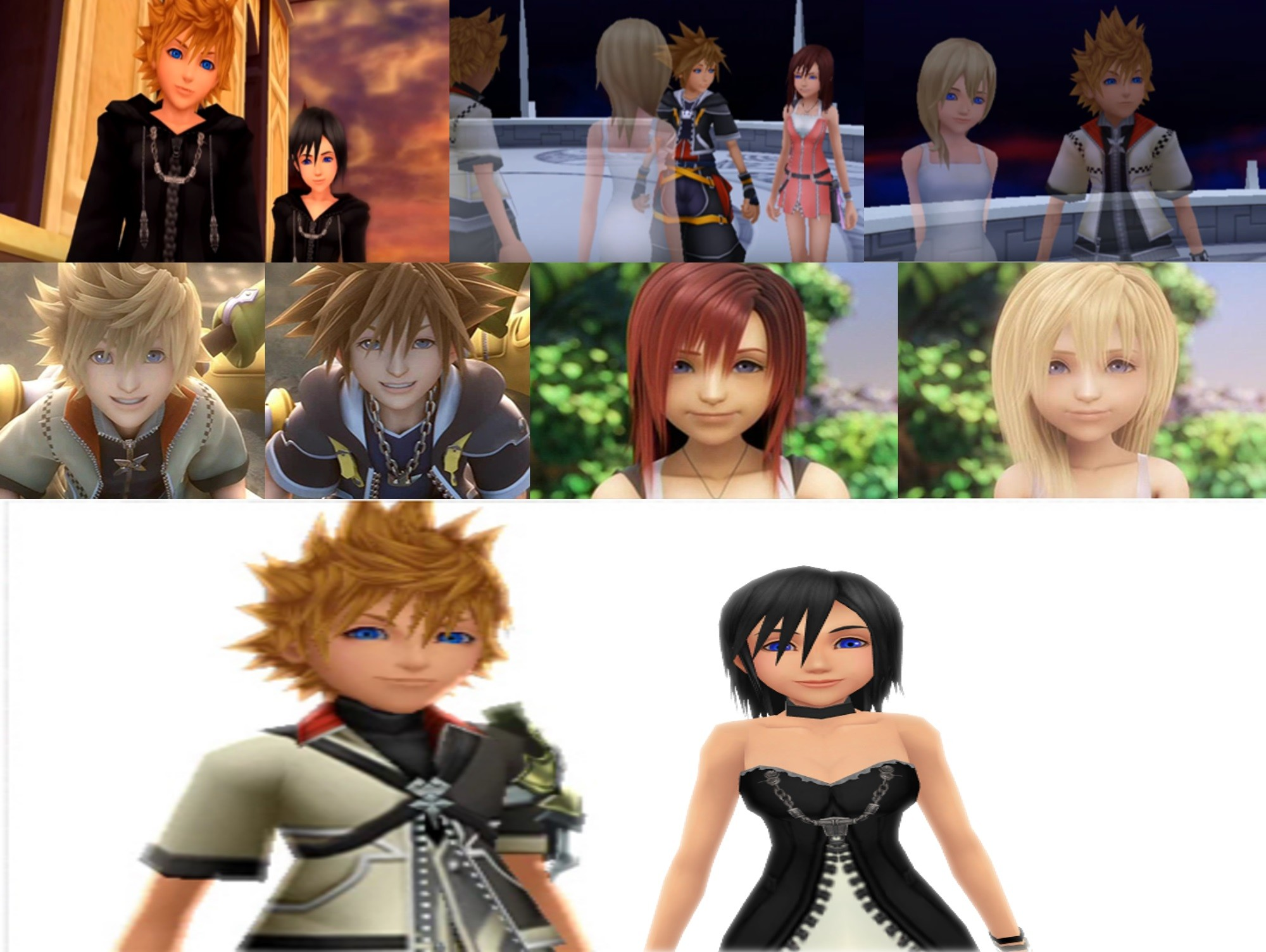 Res: 2000x1505, Kingdom Hearts trios images -----------------Sora-and-Kairi-Roxas-and-Namine-Ventus-and-Xion-..jpg  HD wallpaper and background photos
