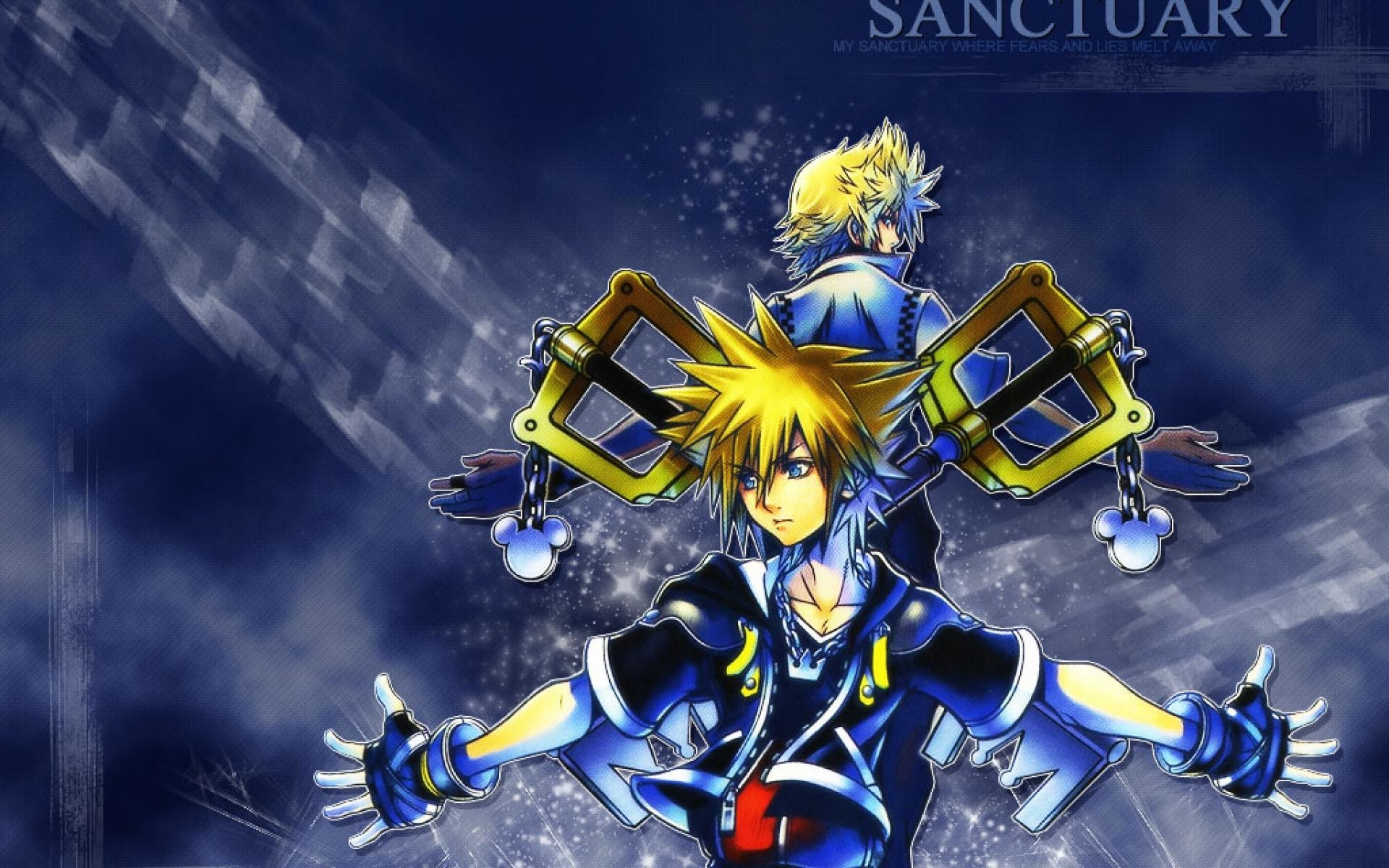 Res: 1920x1200, Kingdom Hearts Sora And Kairi wallpaper