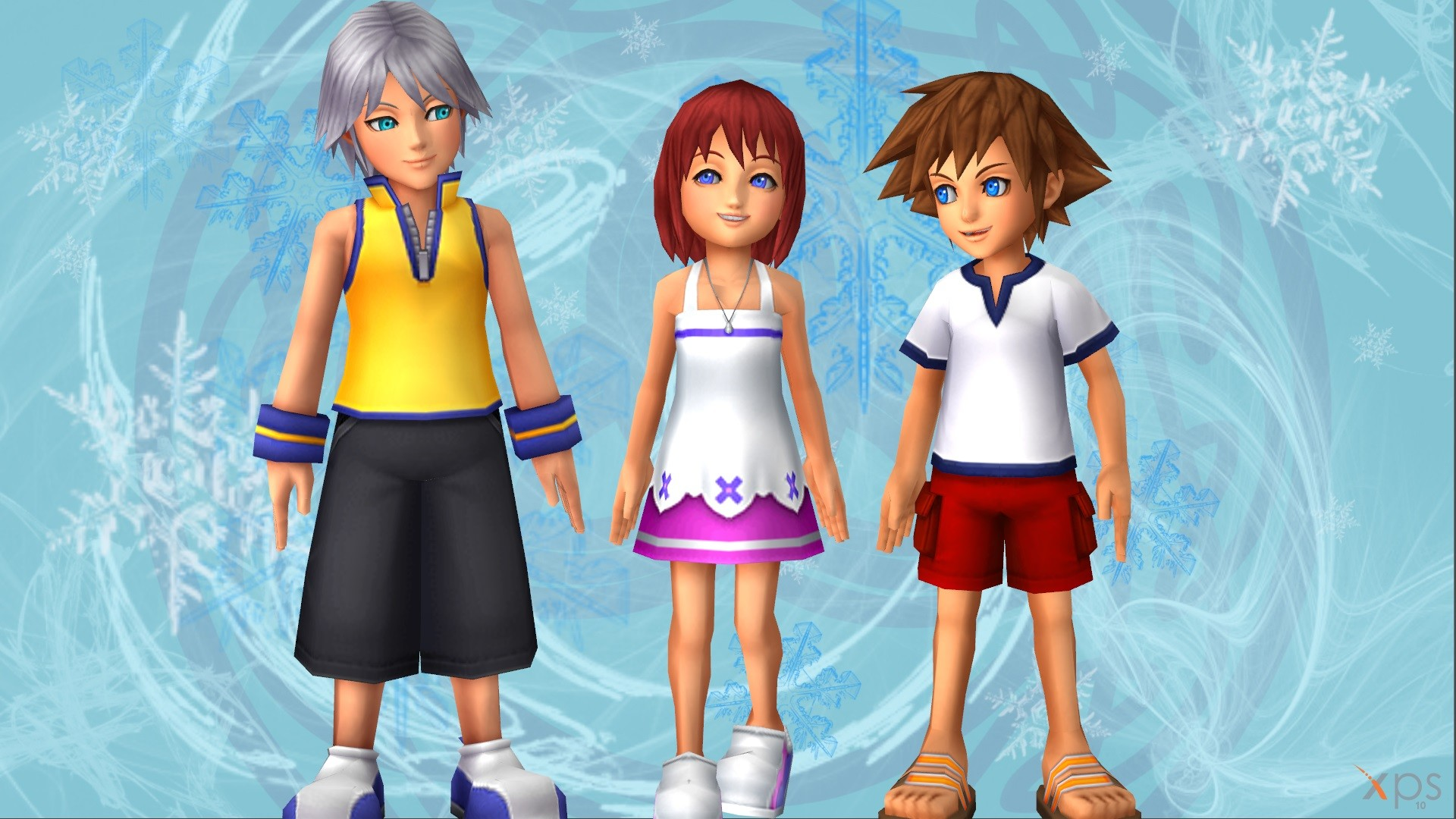 Res: 1920x1080, ... Young Riku, Kairi and Sora - Advent Calendar [12] by LexaKiness