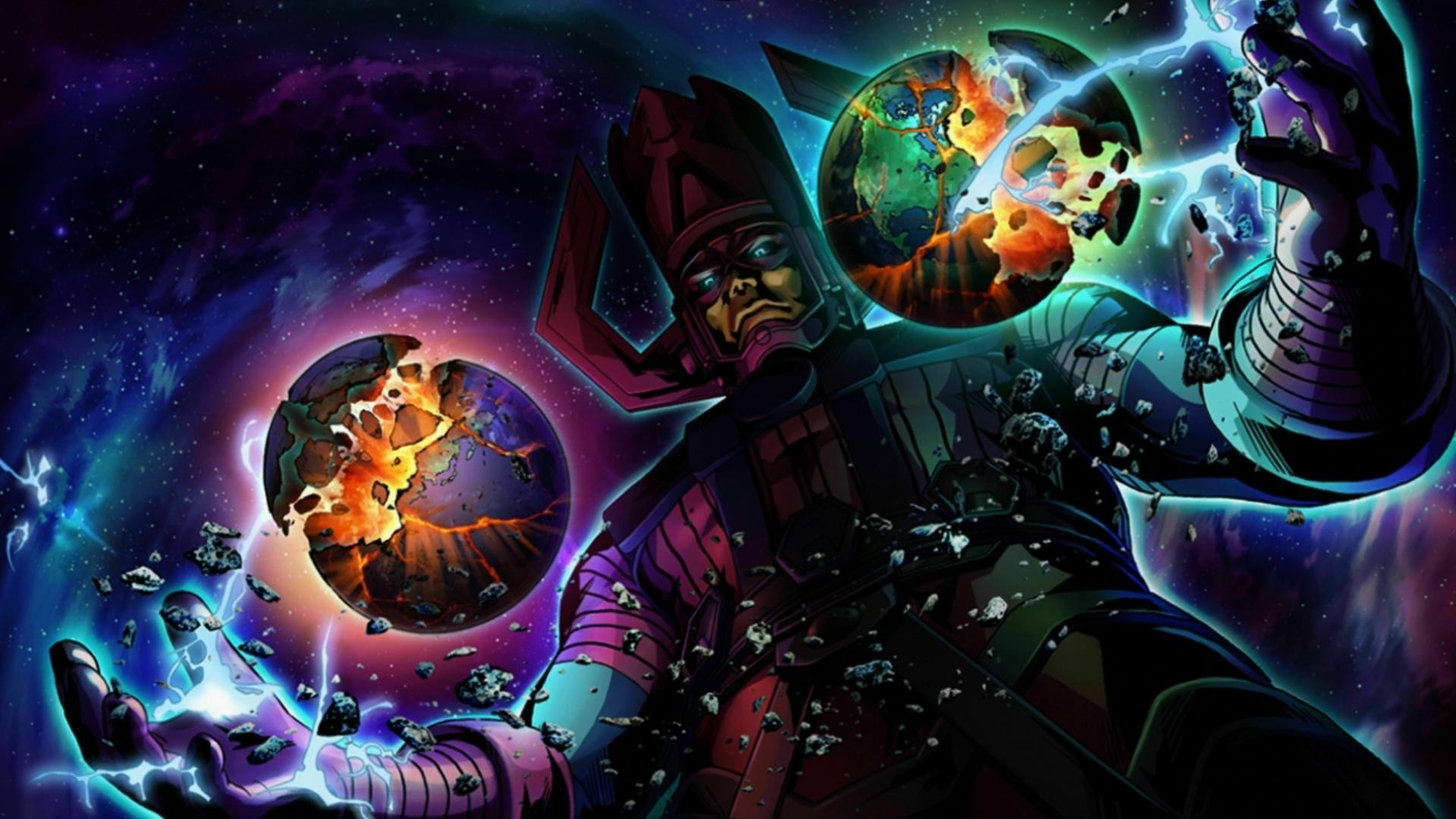 Res: 1920x1080, Galactus vs An army of street levellers. - Battles - Comic Vine